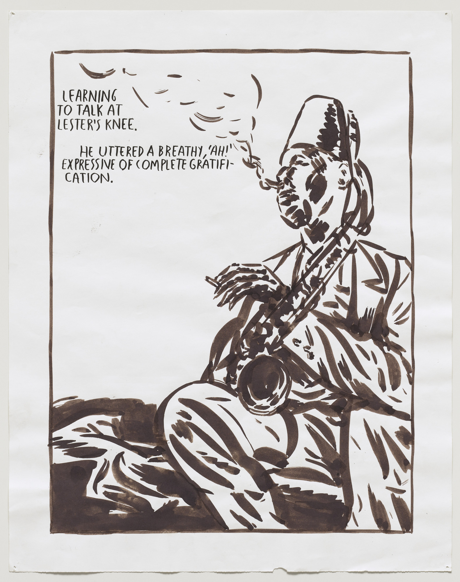 Raymond Pettibon. No Title (Learning to talk). 1989