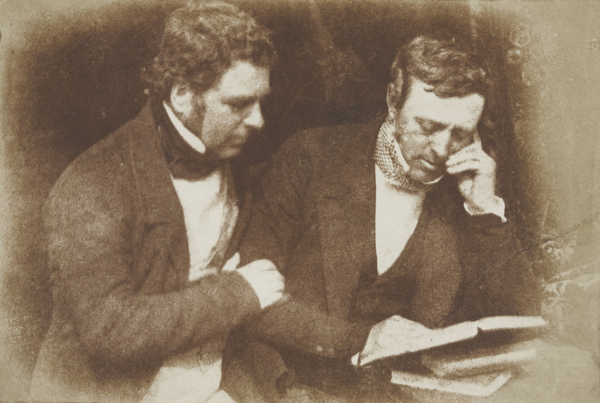David Octavius Hill, Robert Adamson. Mr. W.S. Orr and Peter Fraser. c. 1841-48
