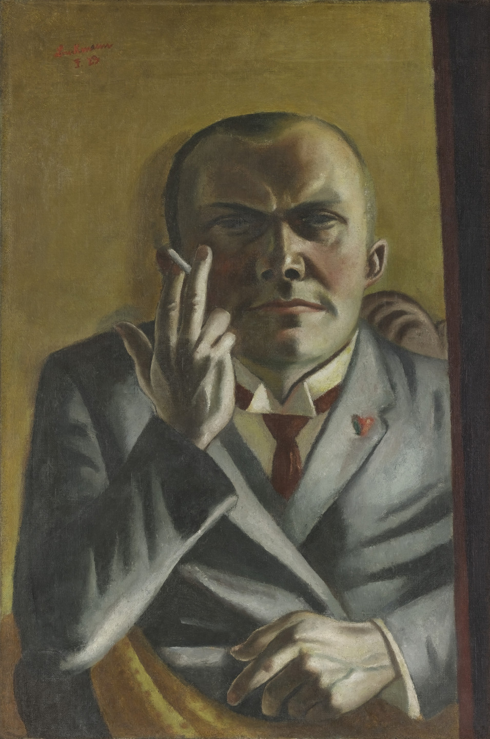 Max Beckmann. Self-Portrait with a Cigarette. Frankfurt 1923