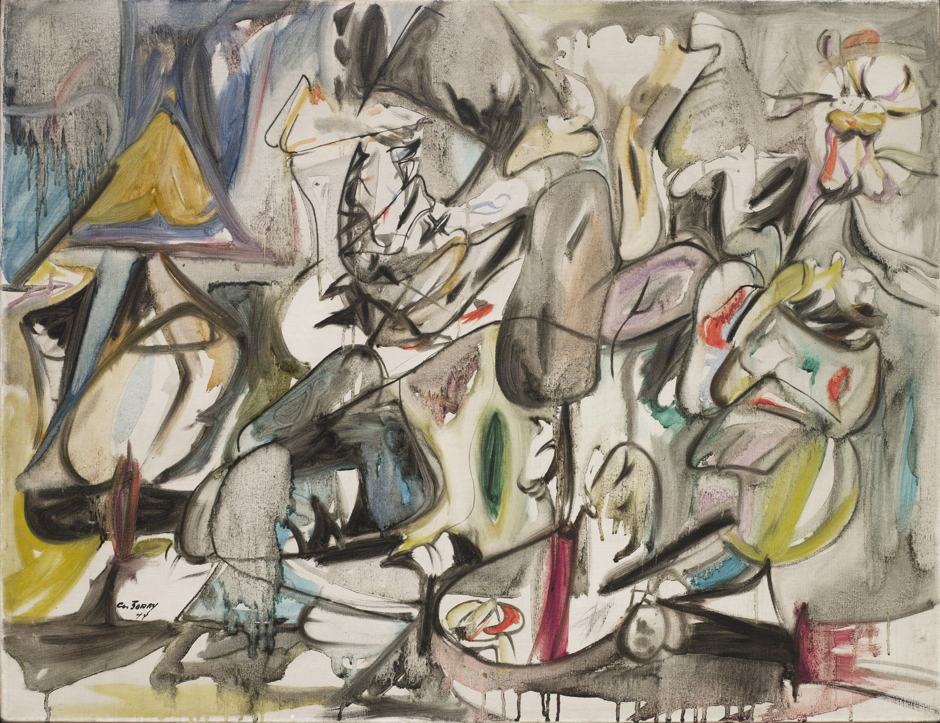 Arshile Gorky. The Leaf of the Artichoke Is an Owl. 1944