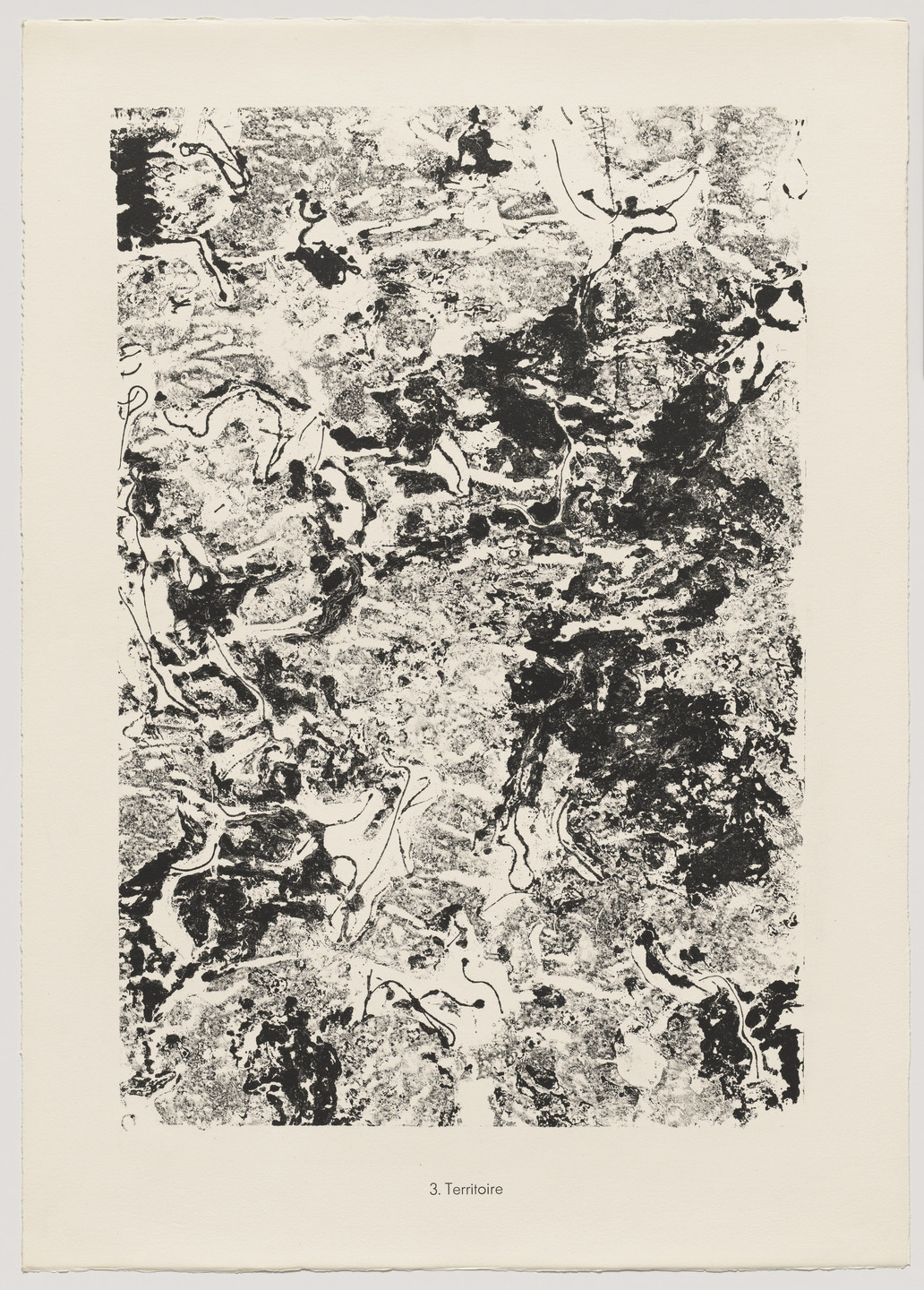 Jean Dubuffet. Territory (Territoire) from the portfolio Theater of the Earth (Théâtre du sol) from Phenomena (Les Phénomènes). 1959