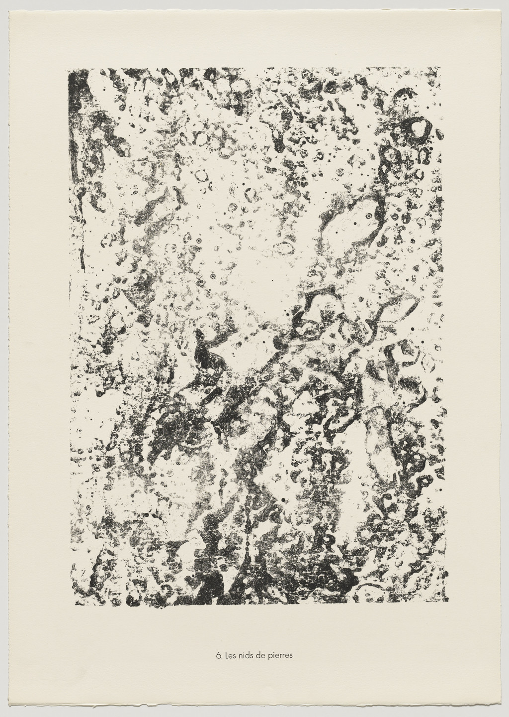 Jean Dubuffet. Nests of Stone (Les nids de pierres) from the portfolio Theater of the Earth (Théâtre du sol) from Phenomena (Les Phénomènes). 1959