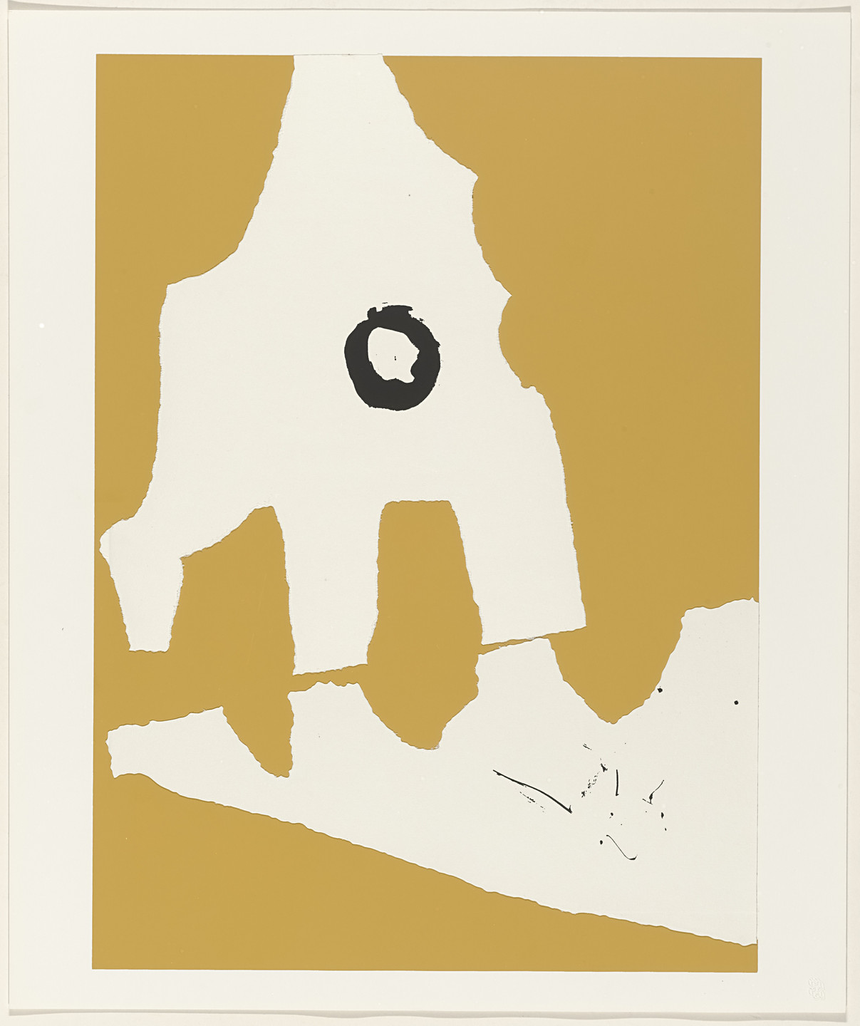 Robert Motherwell. Untitled from X + X (Ten Works by Ten Painters). 1964