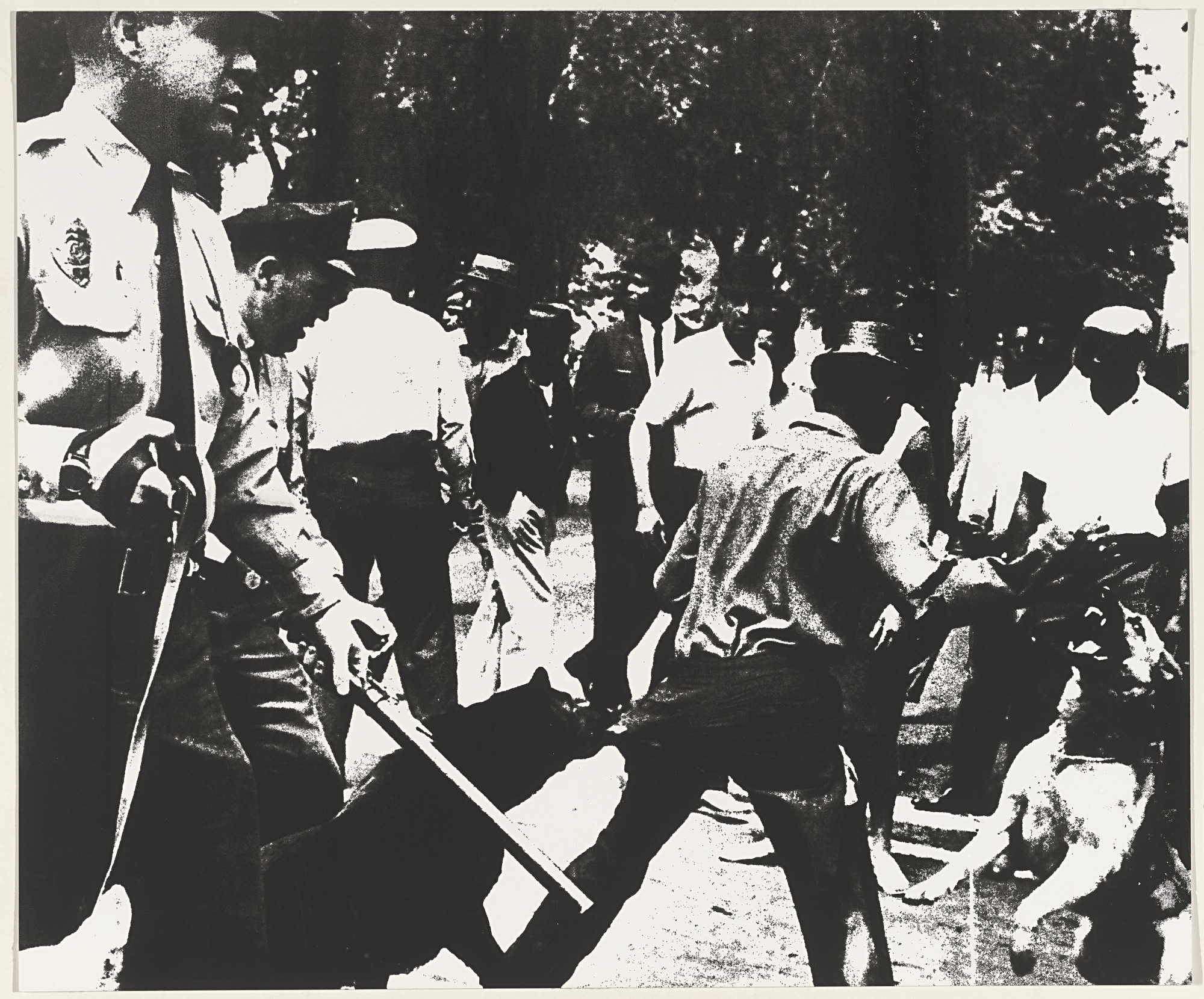 Andy Warhol. Birmingham Race Riot from X + X (Ten Works by Ten Painters). 1964