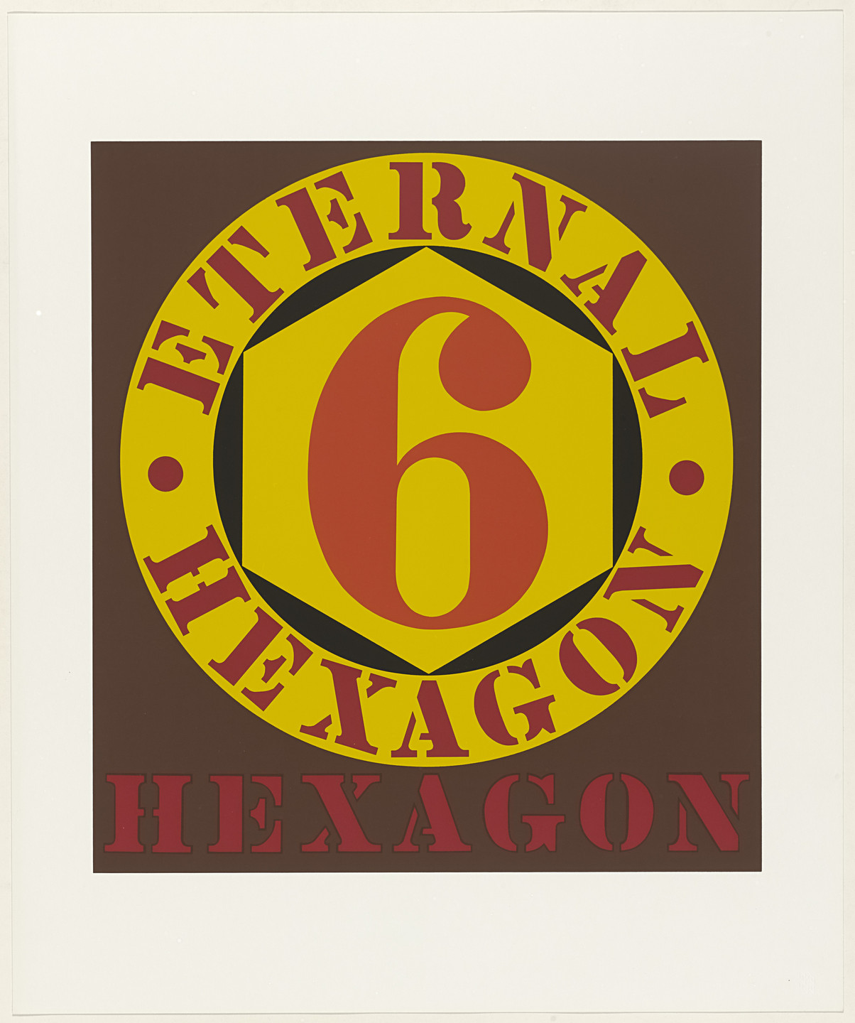 Robert Indiana. Eternal Hexagon from X + X (Ten Works by Ten Painters). 1964