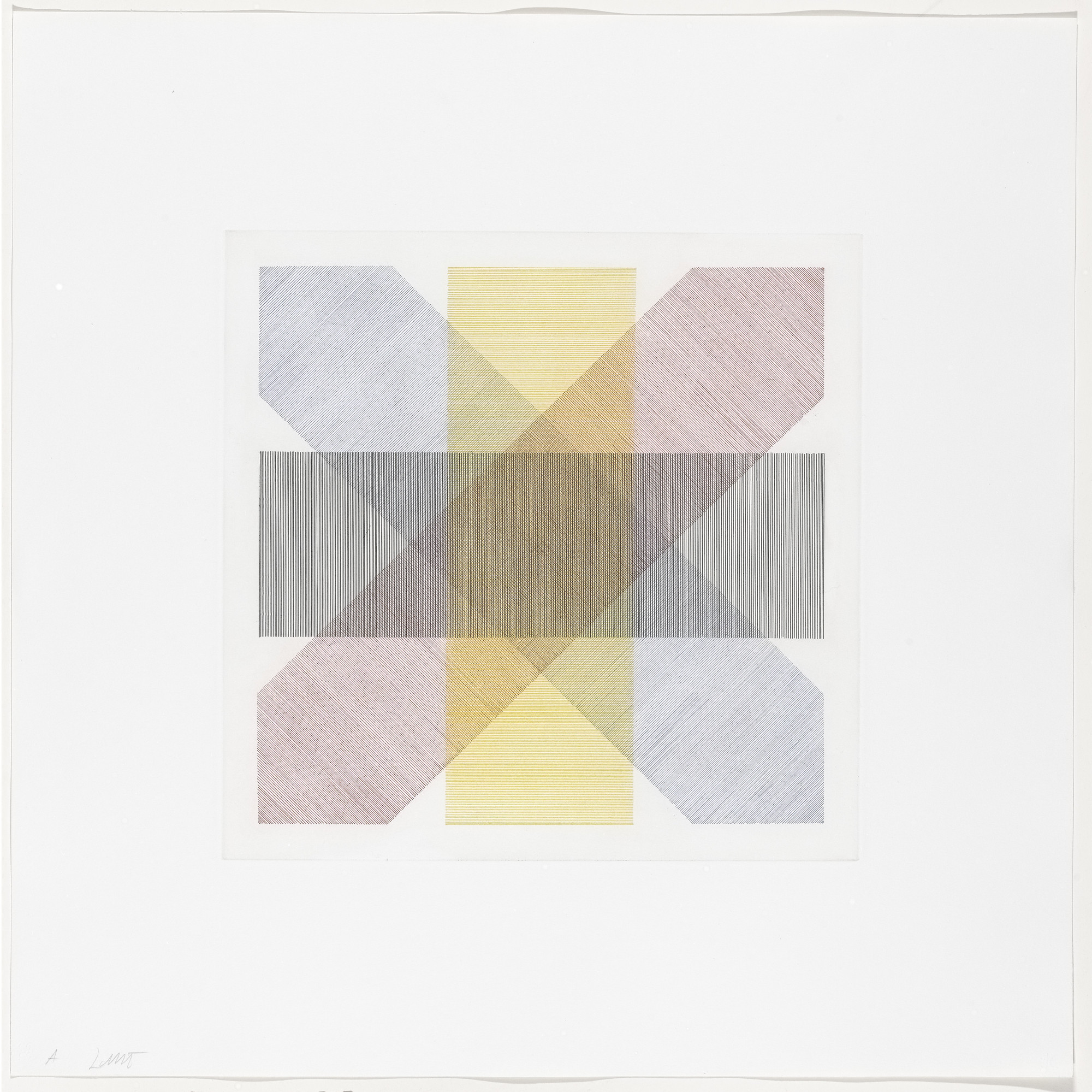 Sol LeWitt. Untitled from Bands of Color in Four Directions & All Combinations. 1971