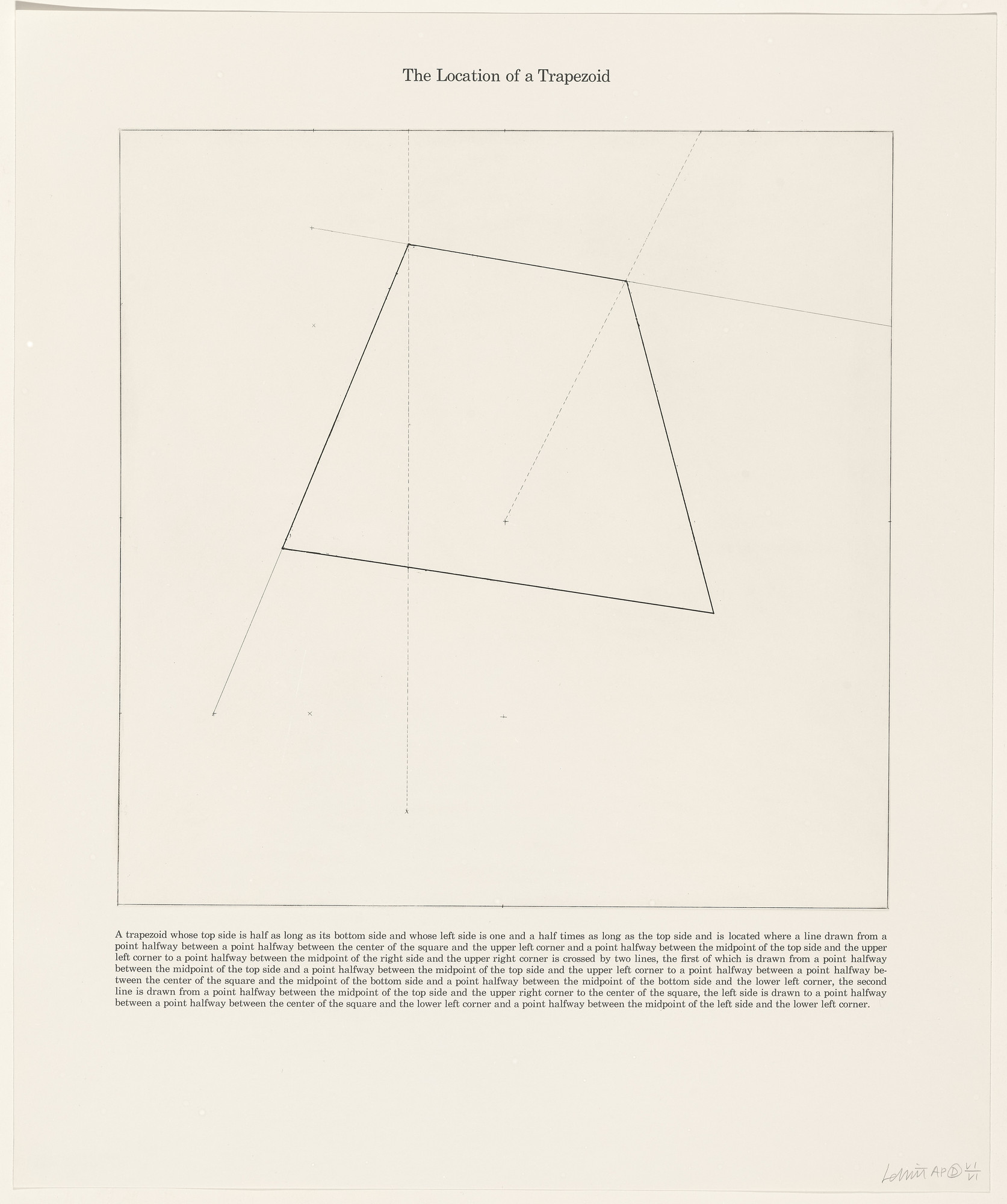 Sol LeWitt  The Location of a Trapezoid from The Location of