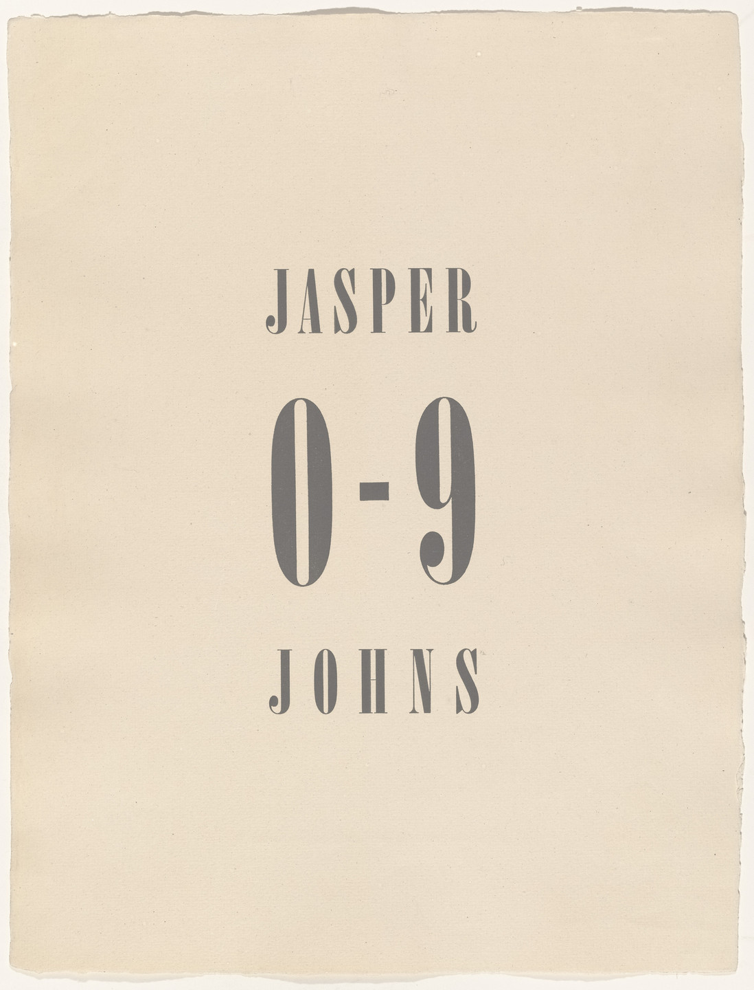 Jasper Johns. 0-9. 1960–63, published 1963