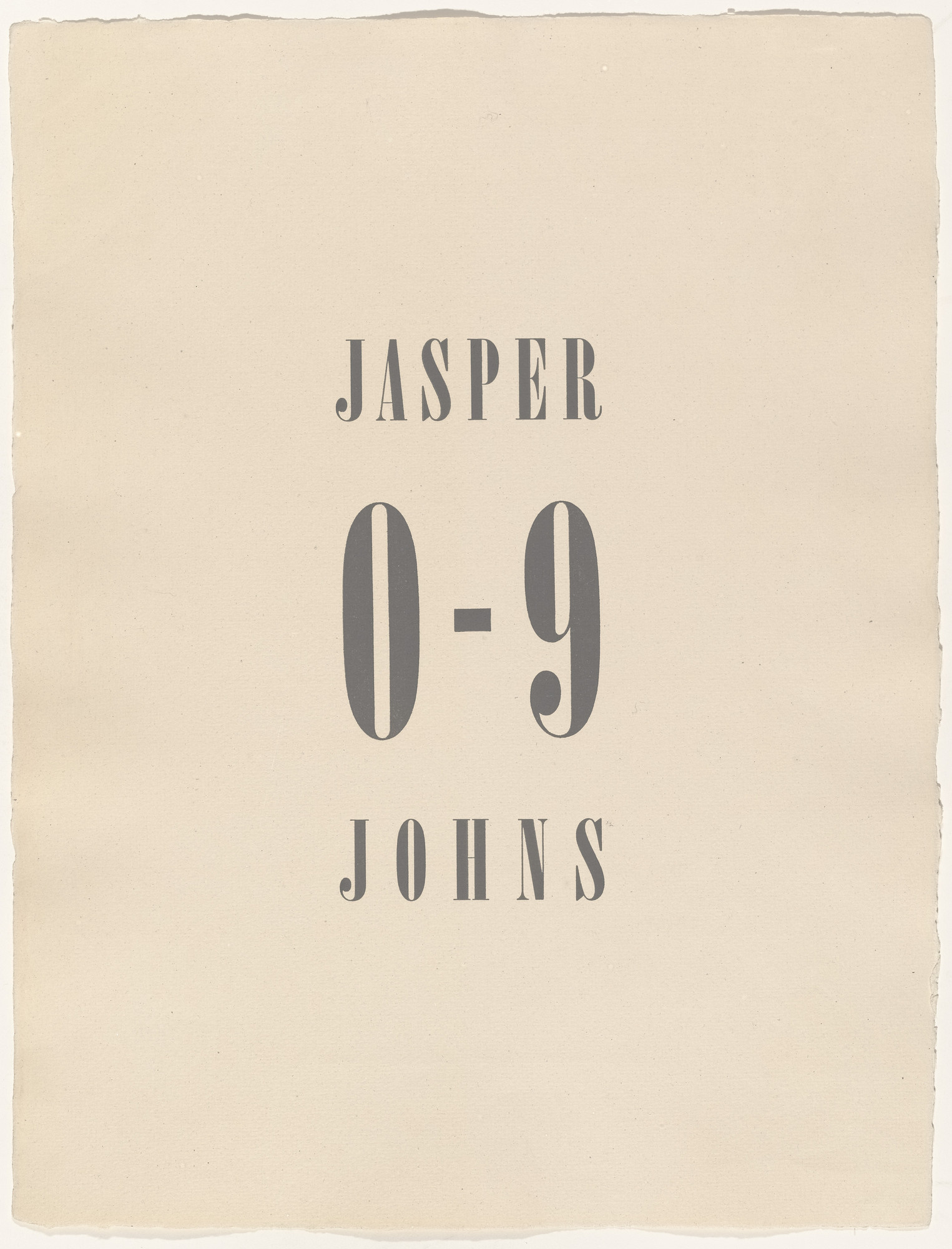 Jasper Johns. 0-9. 1960-63, published 1963
