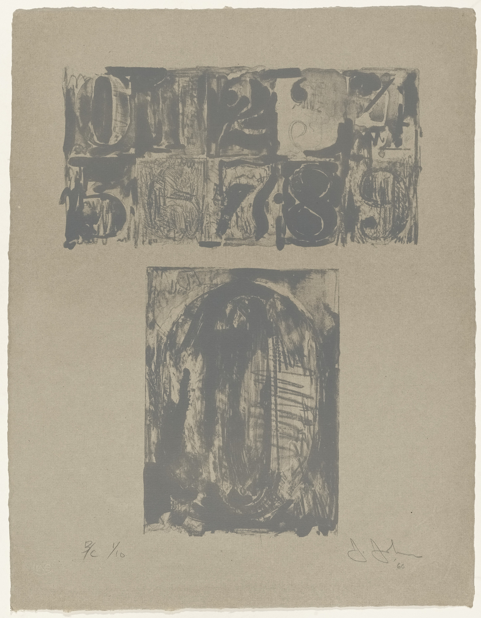 Jasper Johns. 0 from 0-9. 1960, published 1963