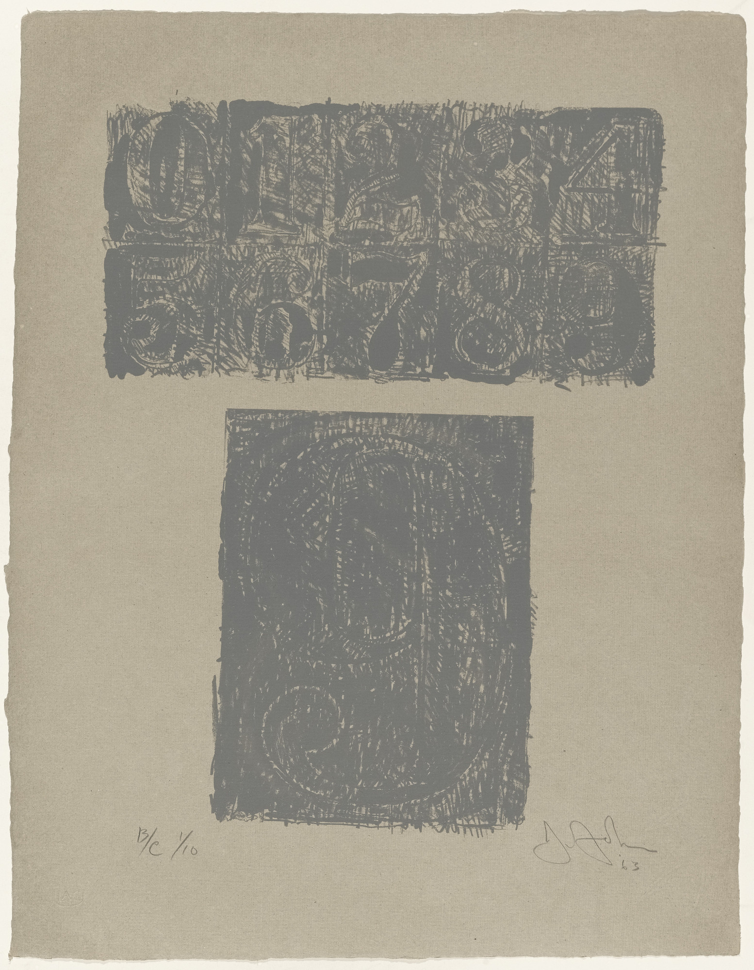 Jasper Johns. 9 from 0-9 (Gray). 1963