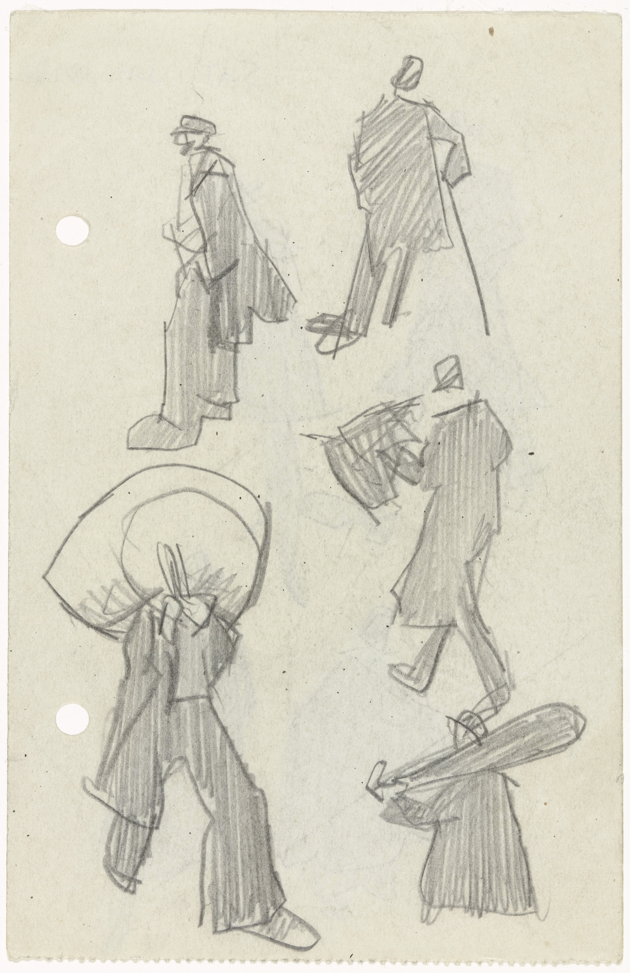 Lyonel Feininger. Five Figures. (1906)