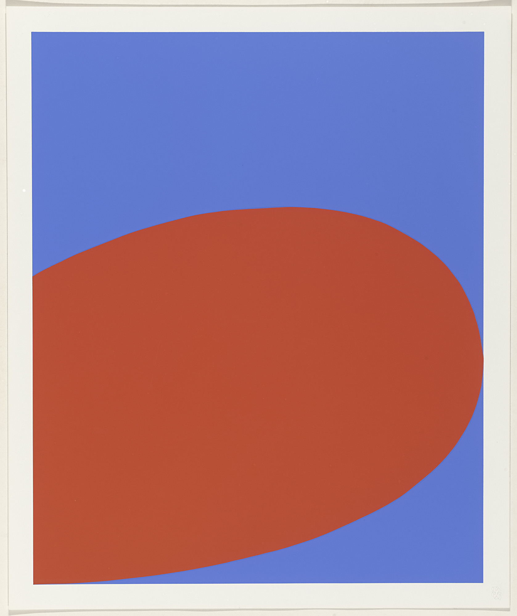 Ellsworth Kelly. Red Blue from X + X (Ten Works by Ten Painters). 1964