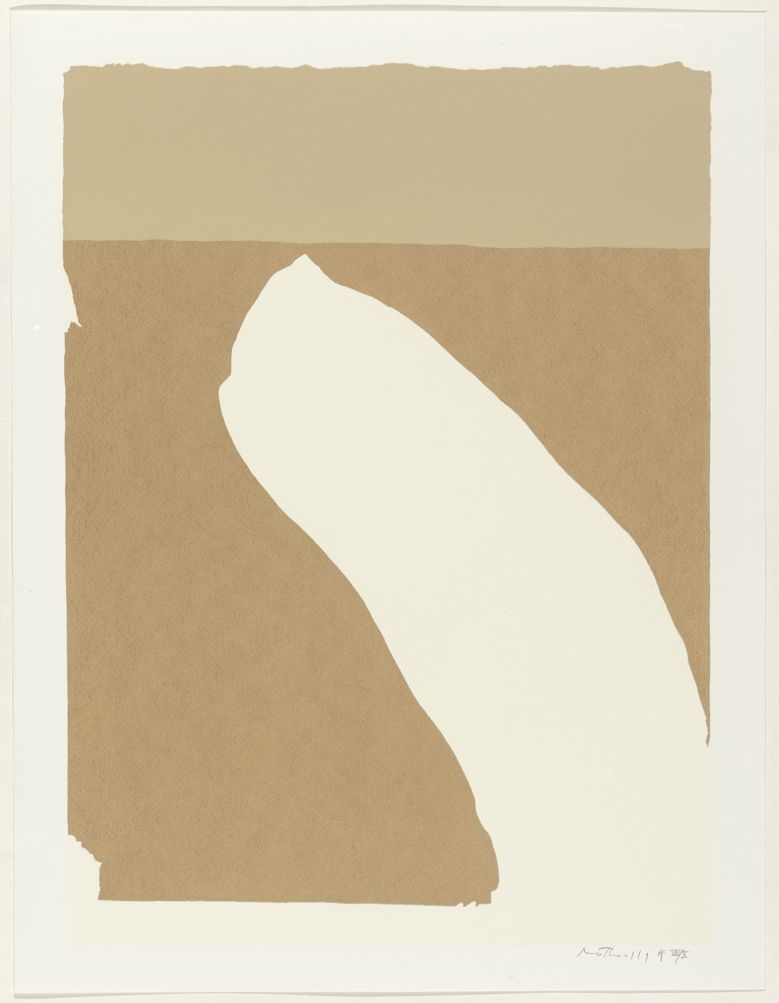 Robert Motherwell. Untitled from Flight. 1970, published 1971