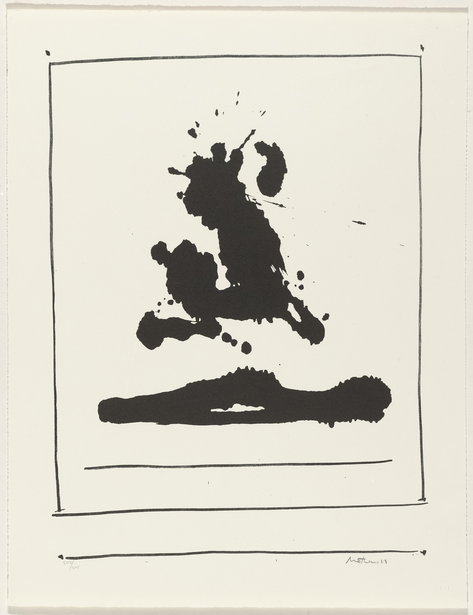 Robert Motherwell. Untitled from New York International. 1966