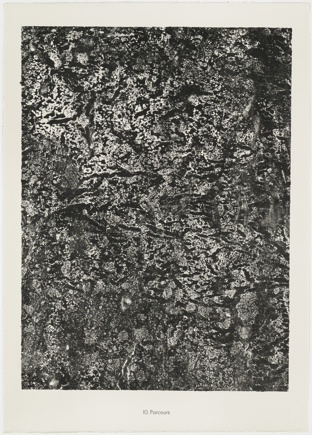 Jean Dubuffet. Paths (Parcours) from the portfolio Soil, Earth (Sols, terres) from Phenomena (Les Phénomènes). 1959