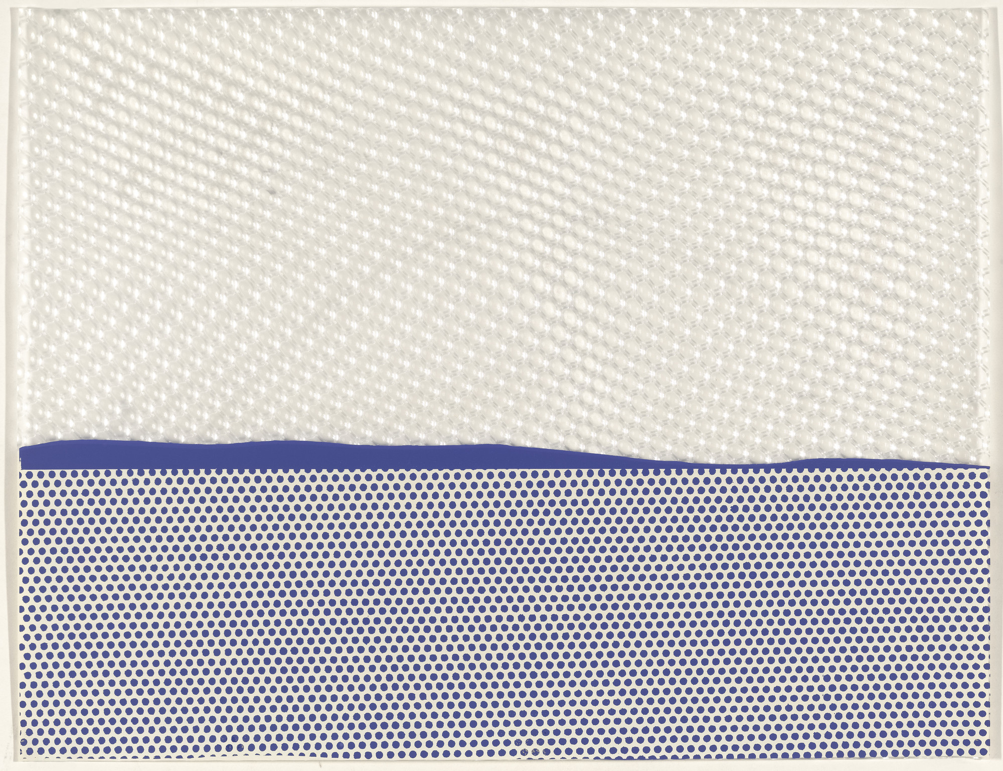 Roy Lichtenstein. Seascape I from New York Ten. 1964, published 1965