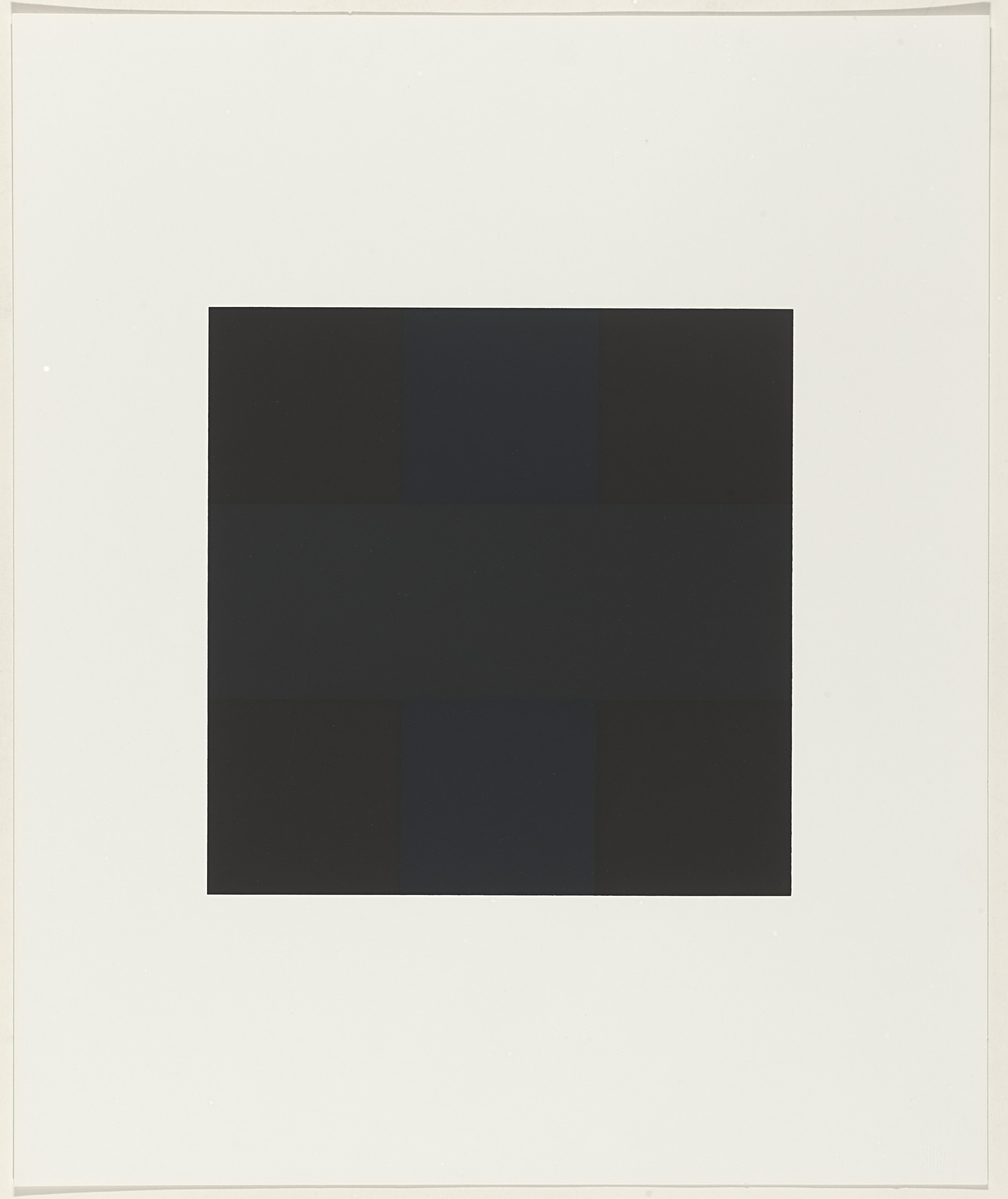Ad Reinhardt. Untitled from X + X (Ten Works by Ten Painters). 1964