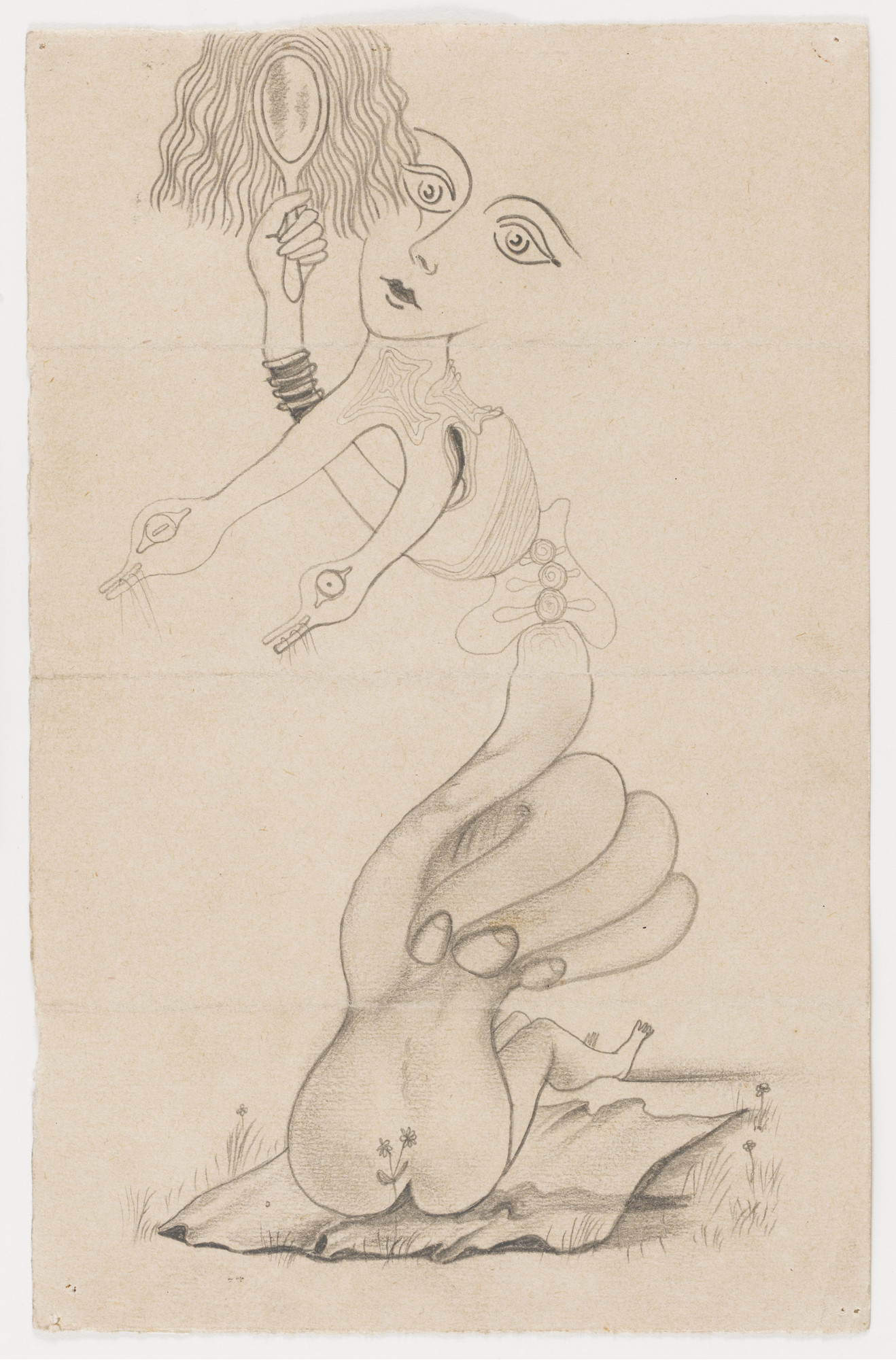 Cadavre Exquis, André Breton, Jacques Hérold, Yves Tanguy, Victor Brauner. Figure. 1934