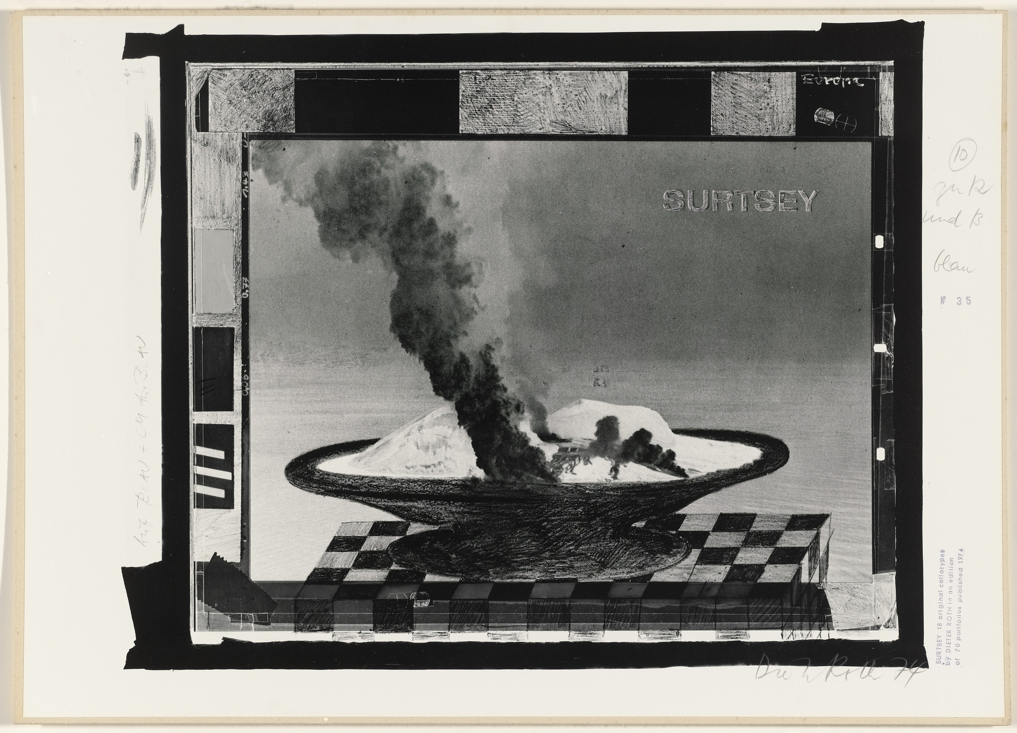 Dieter Roth. Untitled from Surtsey. 1973–74, published 1974