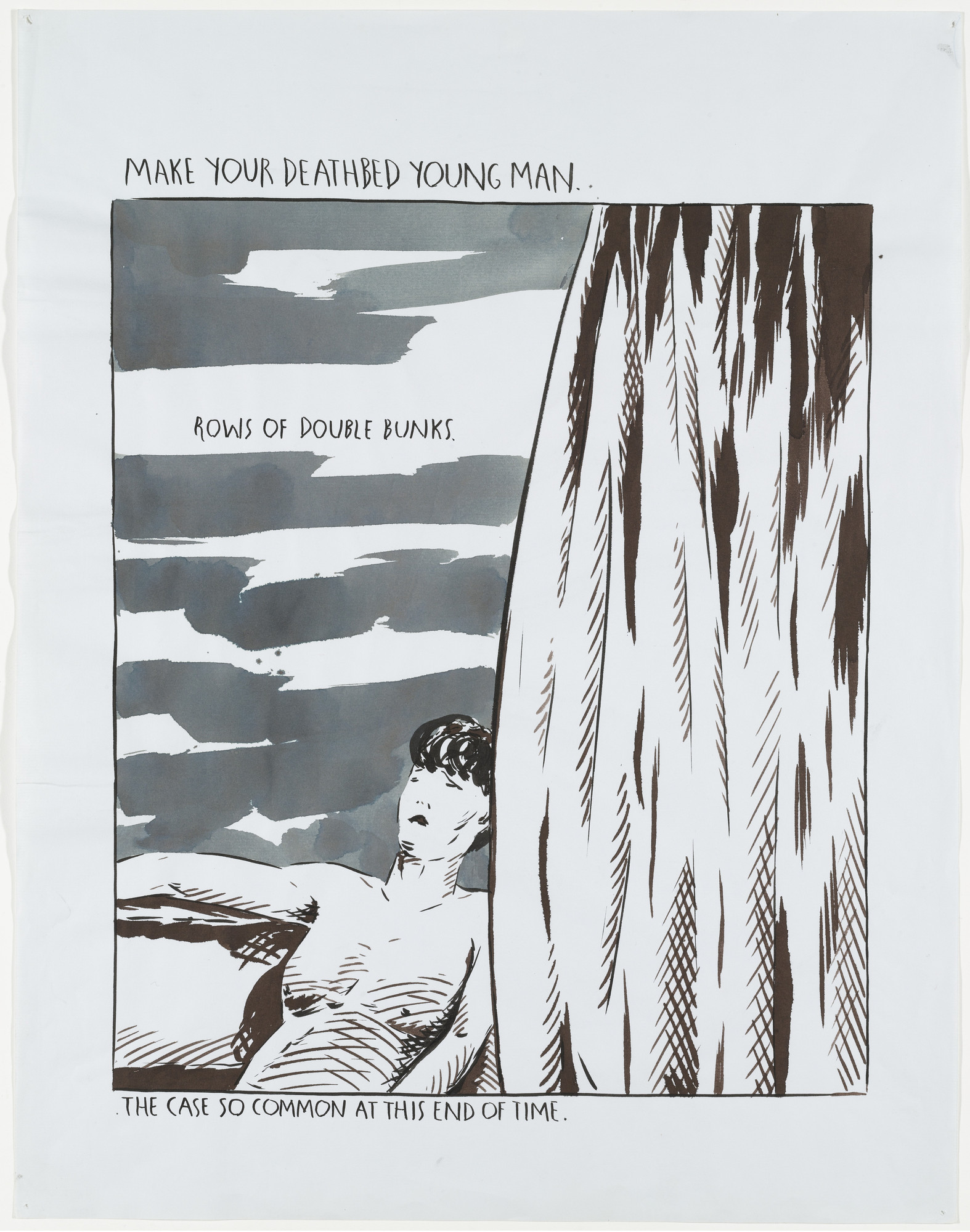 Raymond Pettibon. No Title (Make your deathbed). 1991