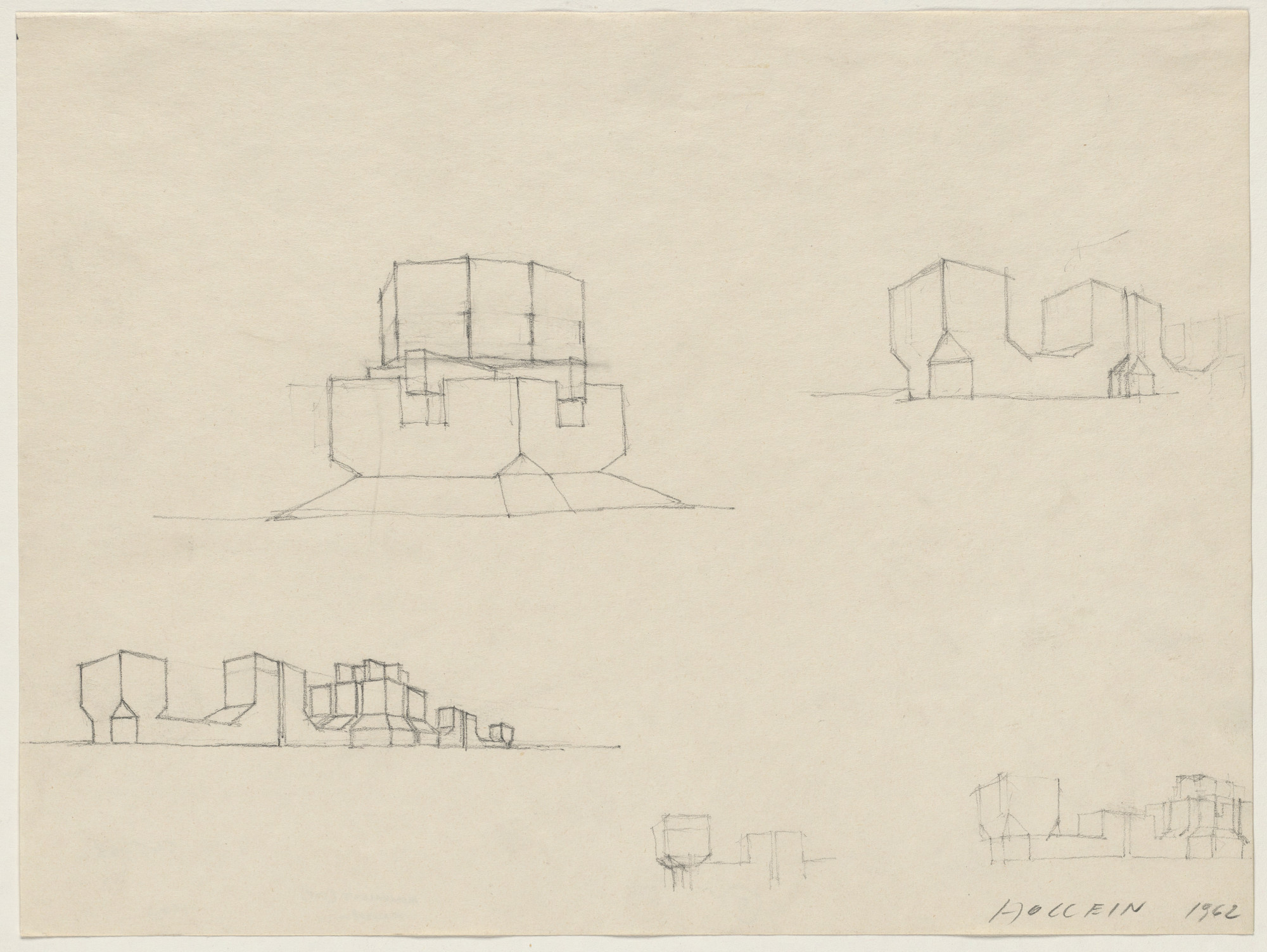 Hans Hollein. Building Form Studies, project, Perspective. 1962