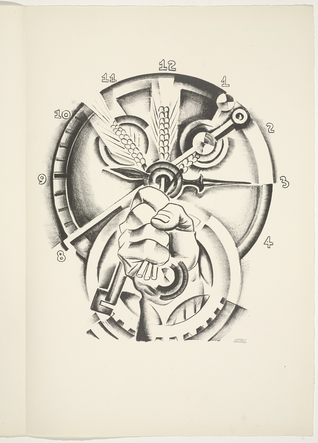 Hugo Gellert. Plate (folio 48) from 'Capital' in Pictures. 1933