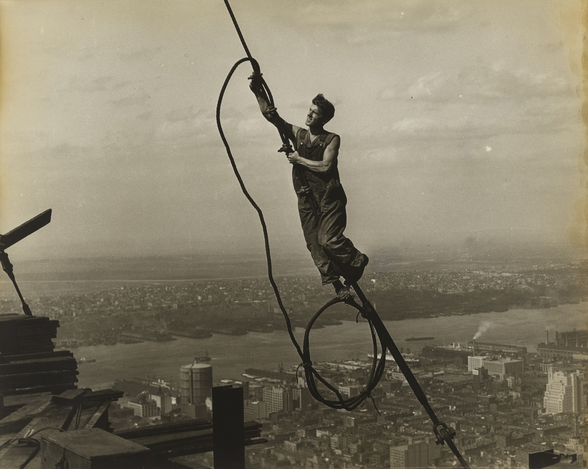 Lewis W. Hine. Workers on the Empire State Building. c. 1930