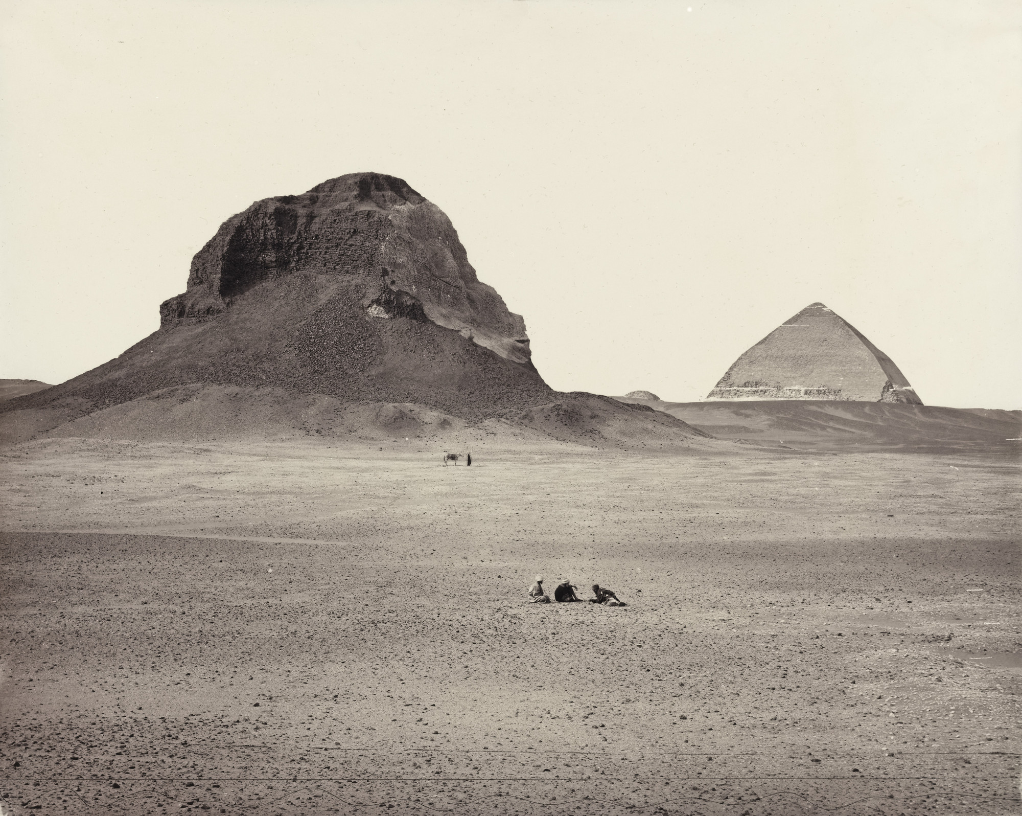 Francis Frith. The Pyramid of Dahsur. 1857-58