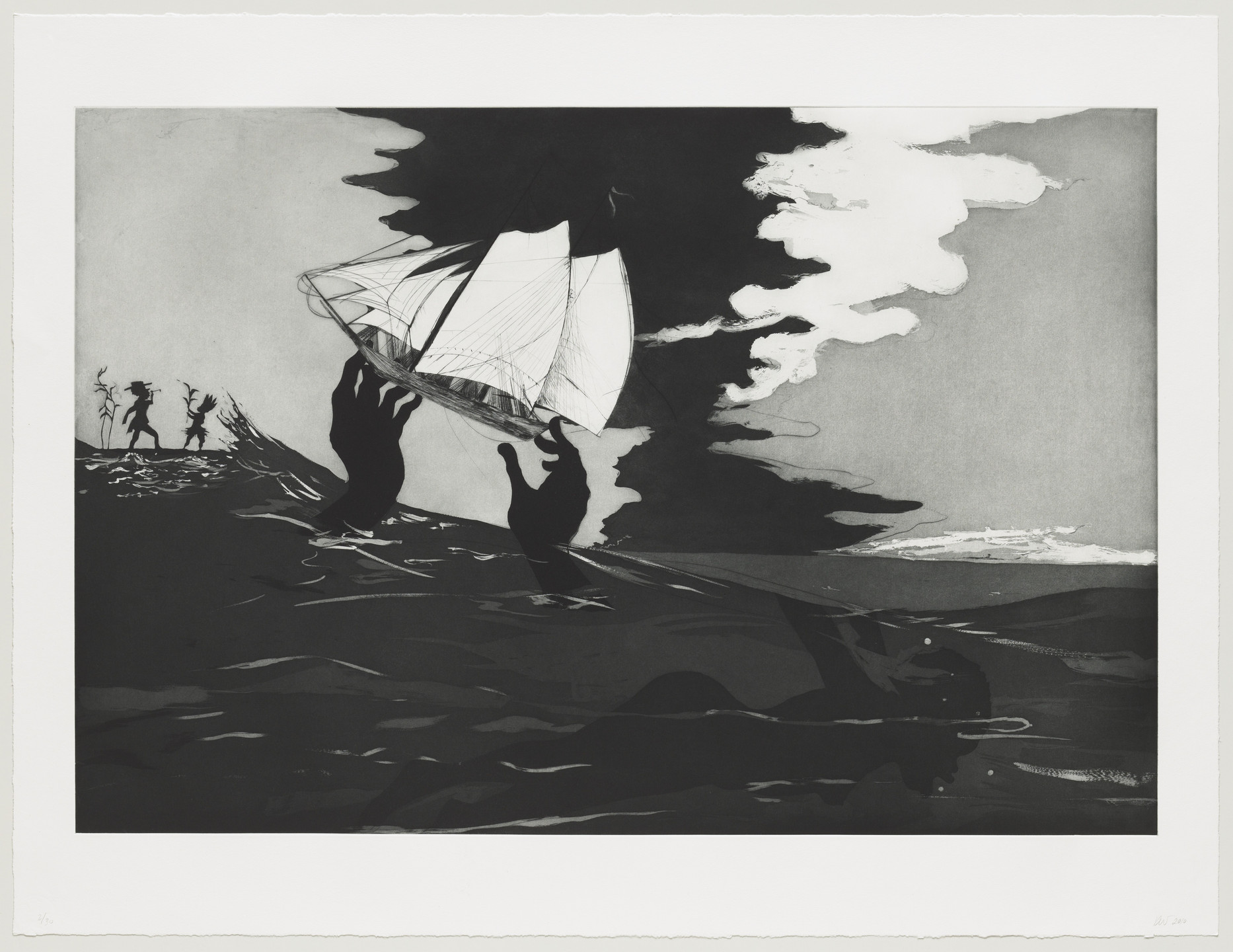 Kara Walker. no world from An Unpeopled Land in Uncharted Waters. 2010