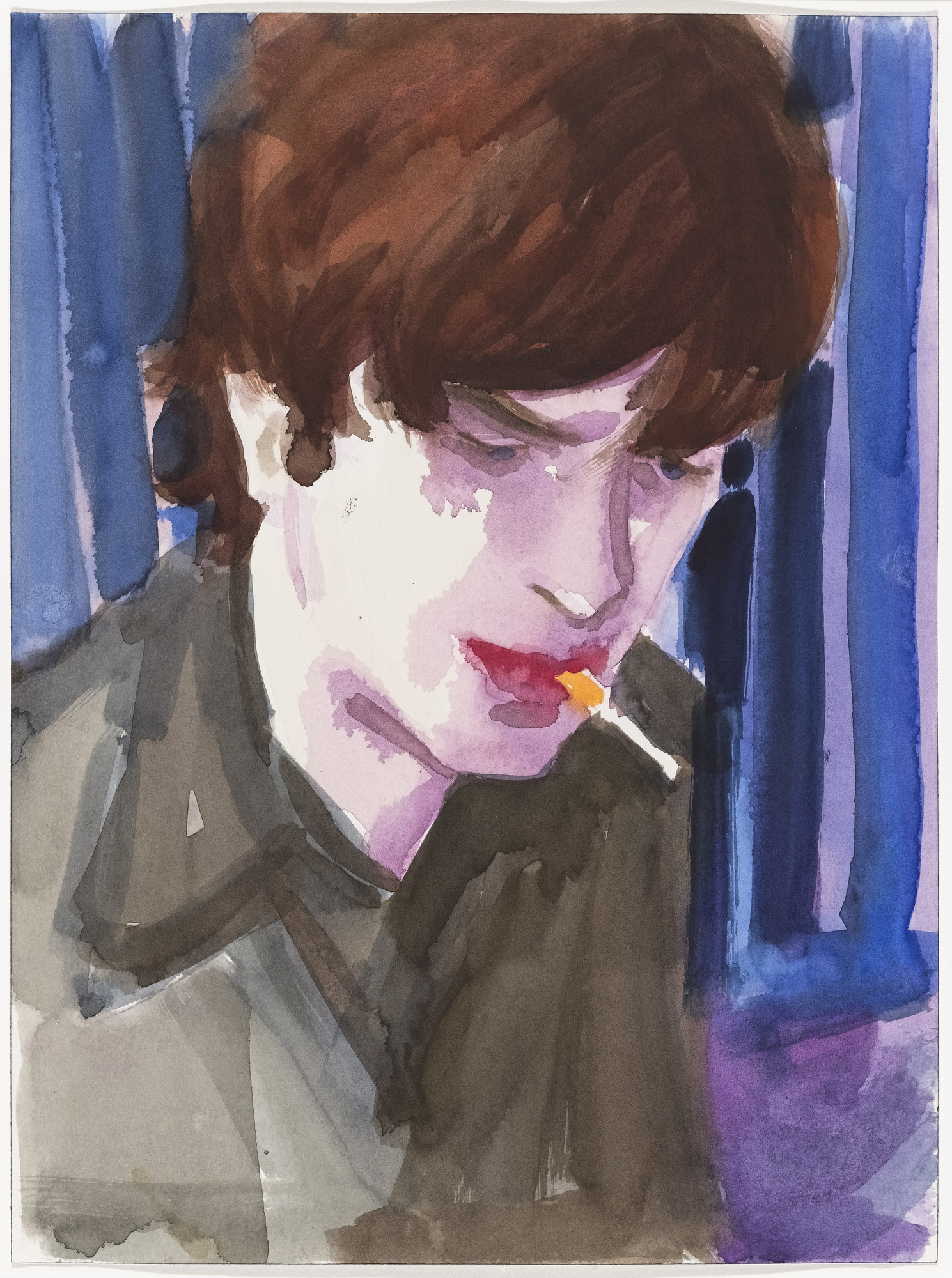 Elizabeth Peyton. Matthew Smoking. (1997)