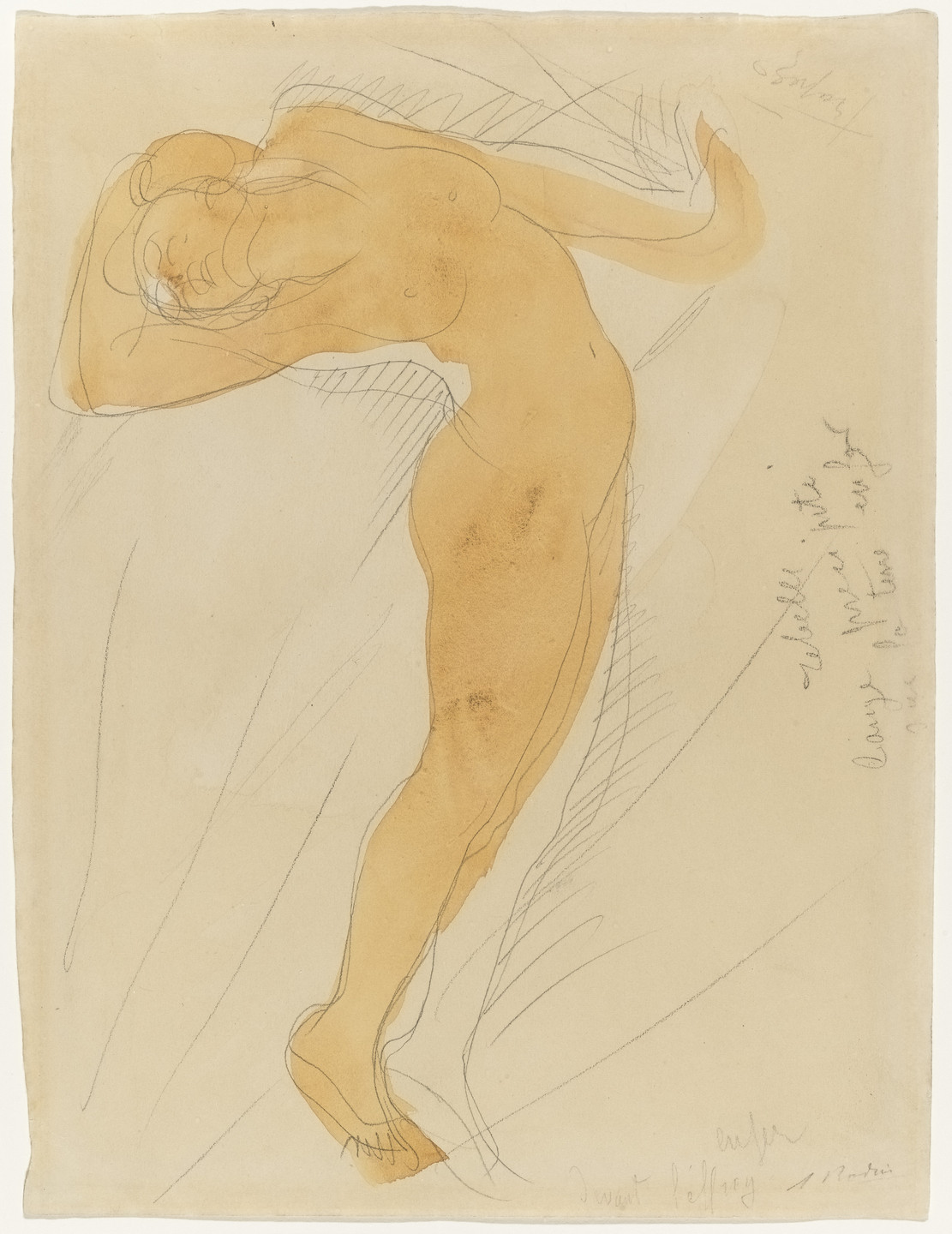 Auguste Rodin. Stretching Figure. (c. 1900-1906)