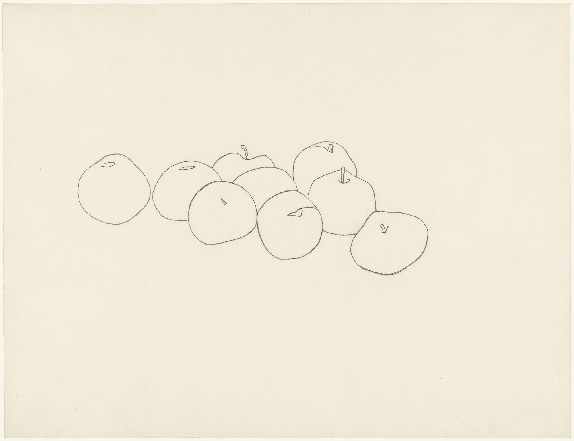 Ellsworth Kelly. Apples. Paris, 1949