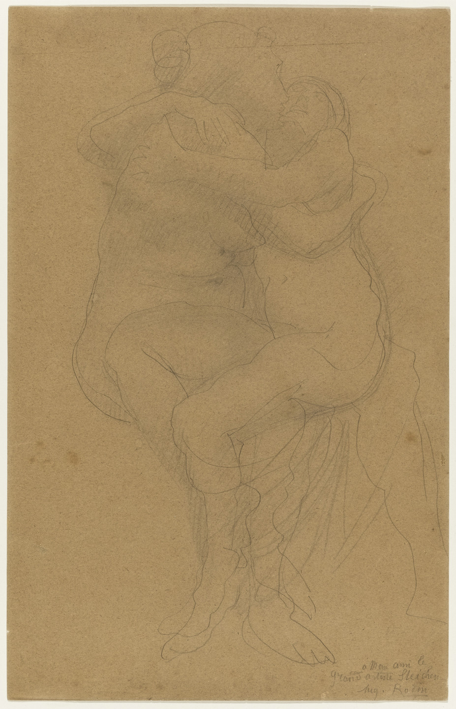 Auguste Rodin. Two Female Figures Embracing. n.d.