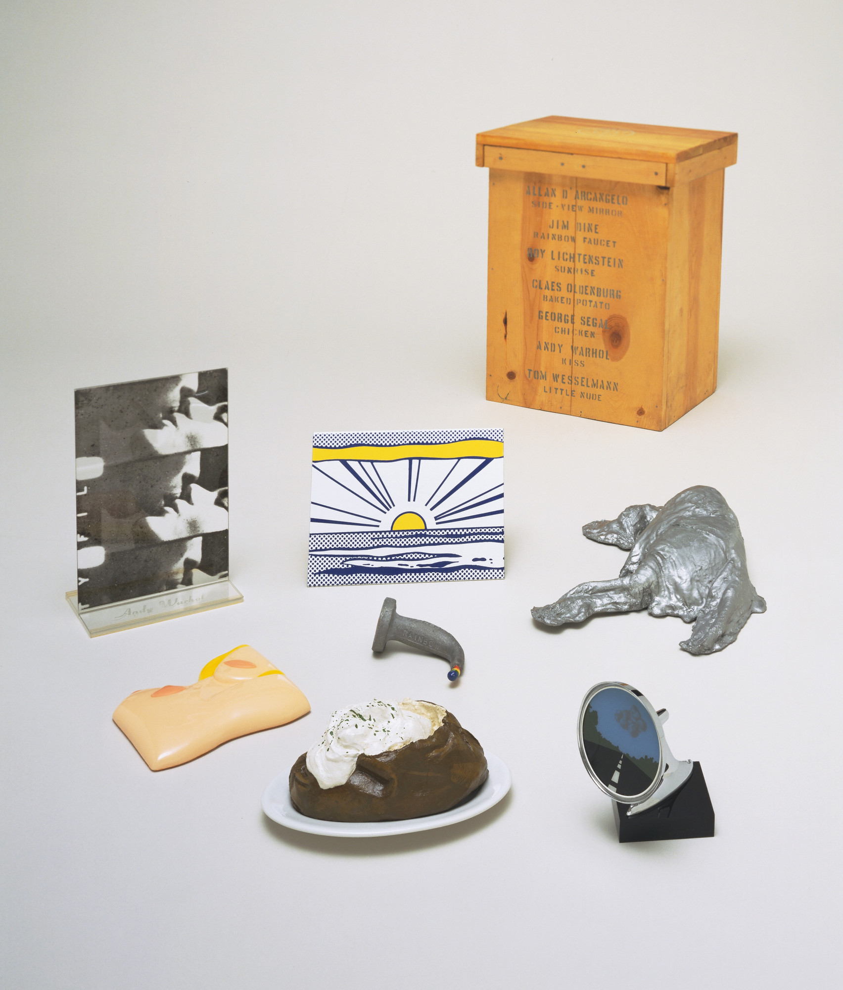 Various Artists, Allan D'Arcangelo, Jim Dine, Roy Lichtenstein, Claes Oldenburg, George Segal, Andy Warhol, Tom Wesselmann. 7 Objects in a Box. 1965–66, published 1966