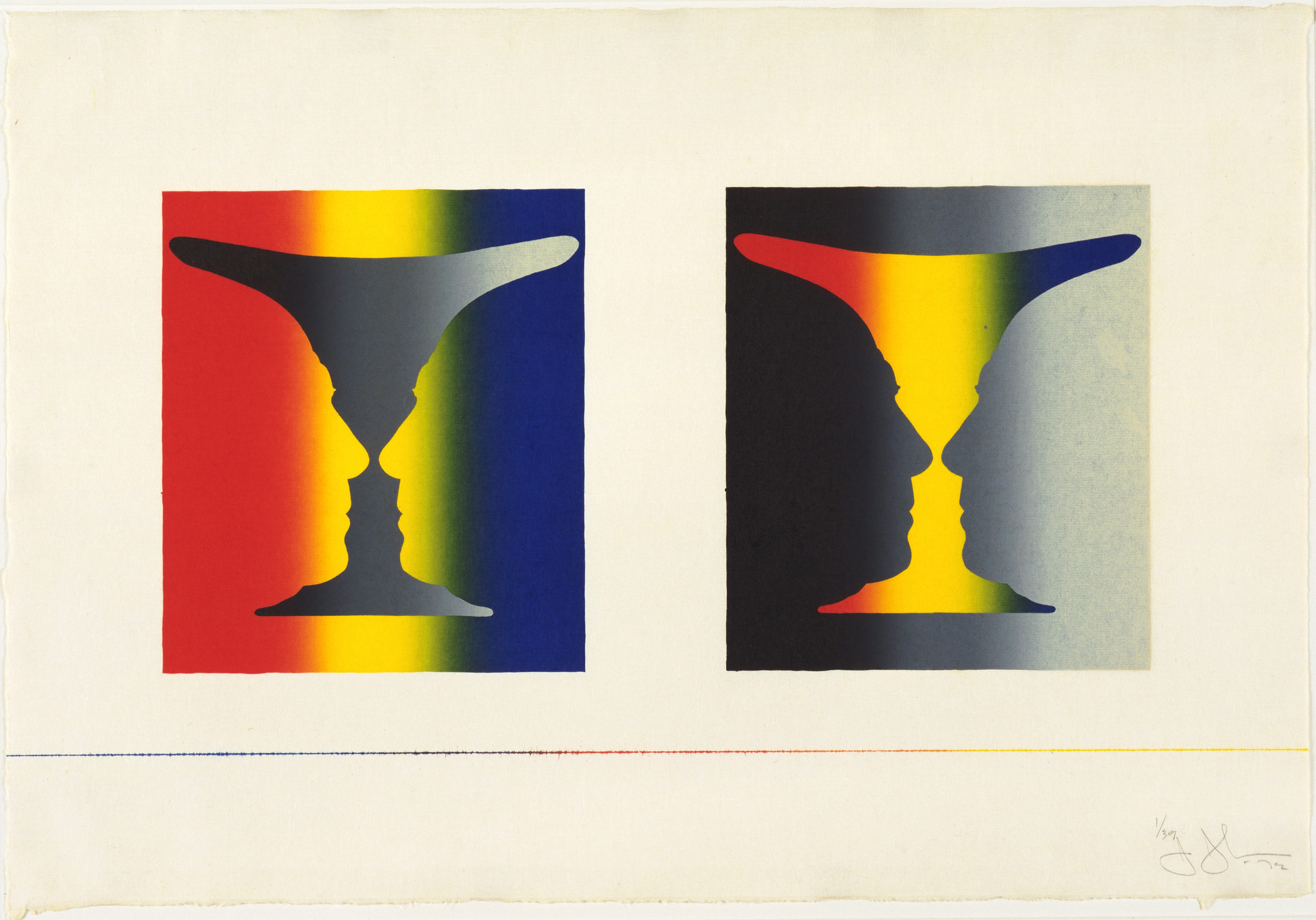 Jasper Johns. Cups 4 Picasso. 1972