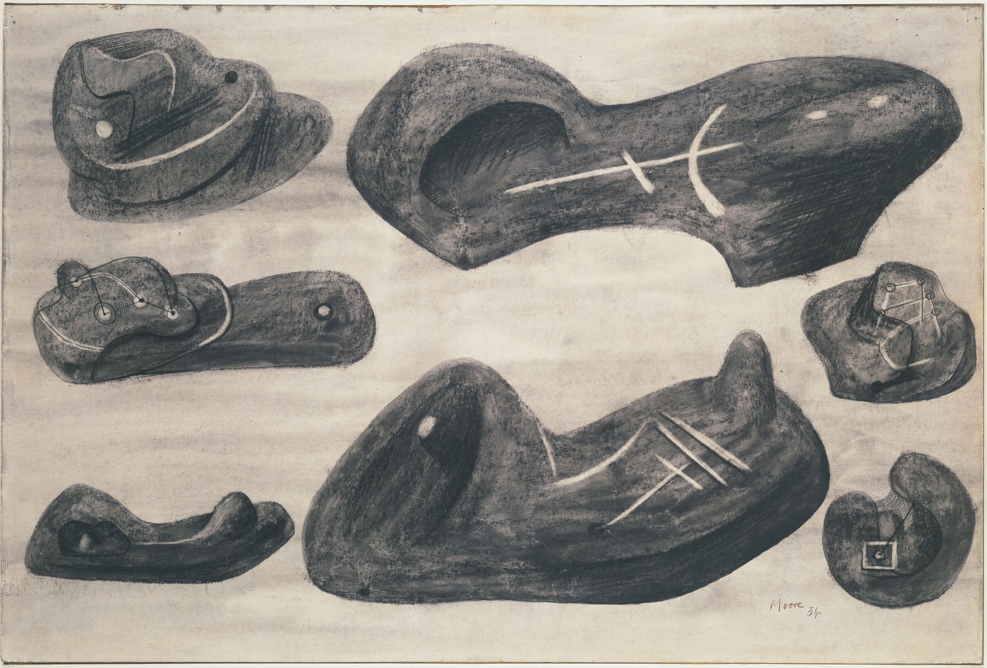Henry Moore. Studies for Sculpture. 1934