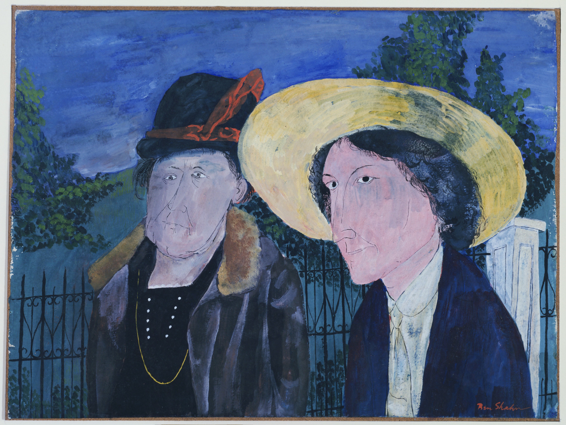 Ben Shahn. Two Witnesses, Mellie Edeau and Sadie Edeau. 1932