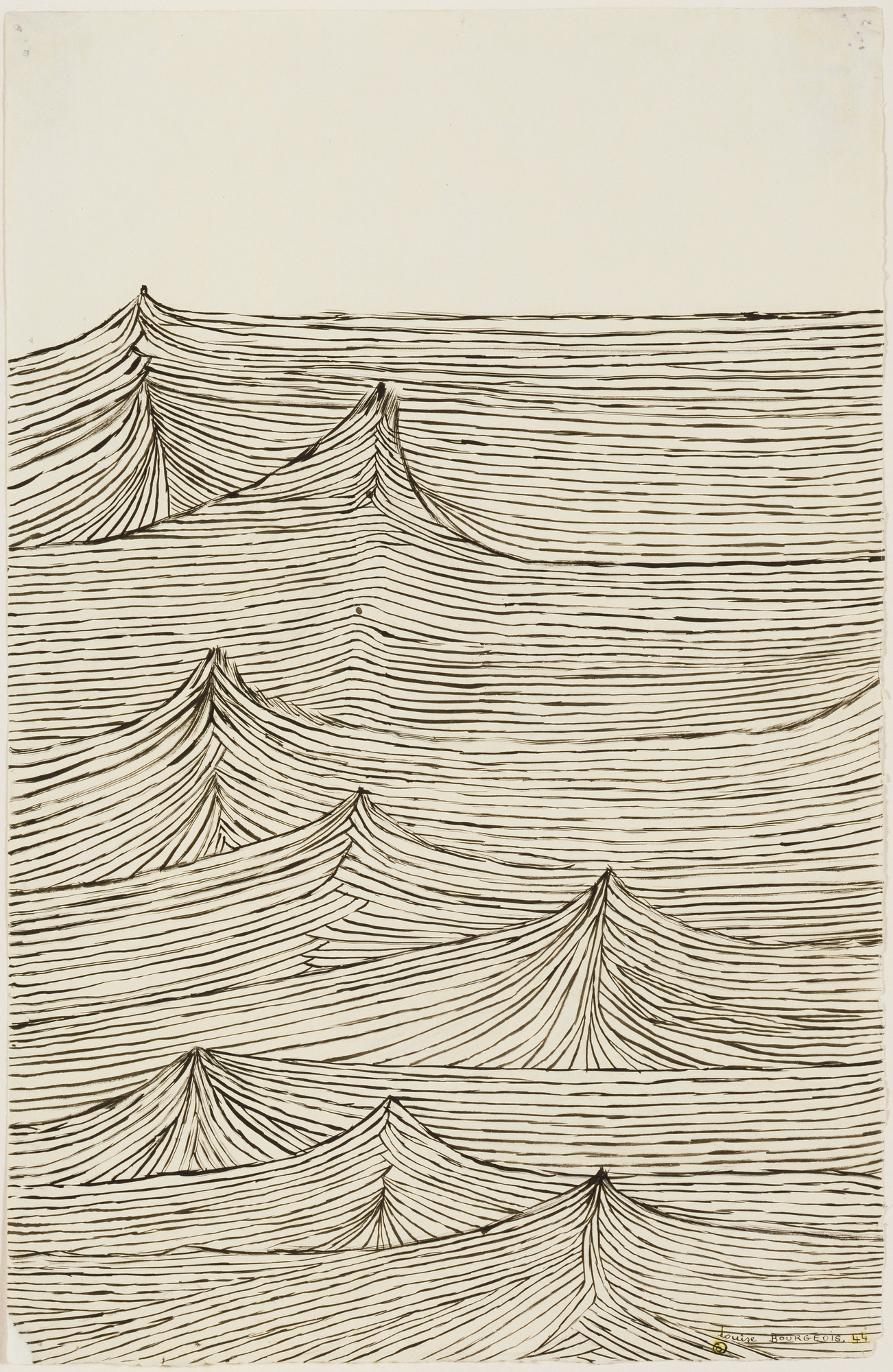 Louise Bourgeois. Throbbing Pulse. 1944