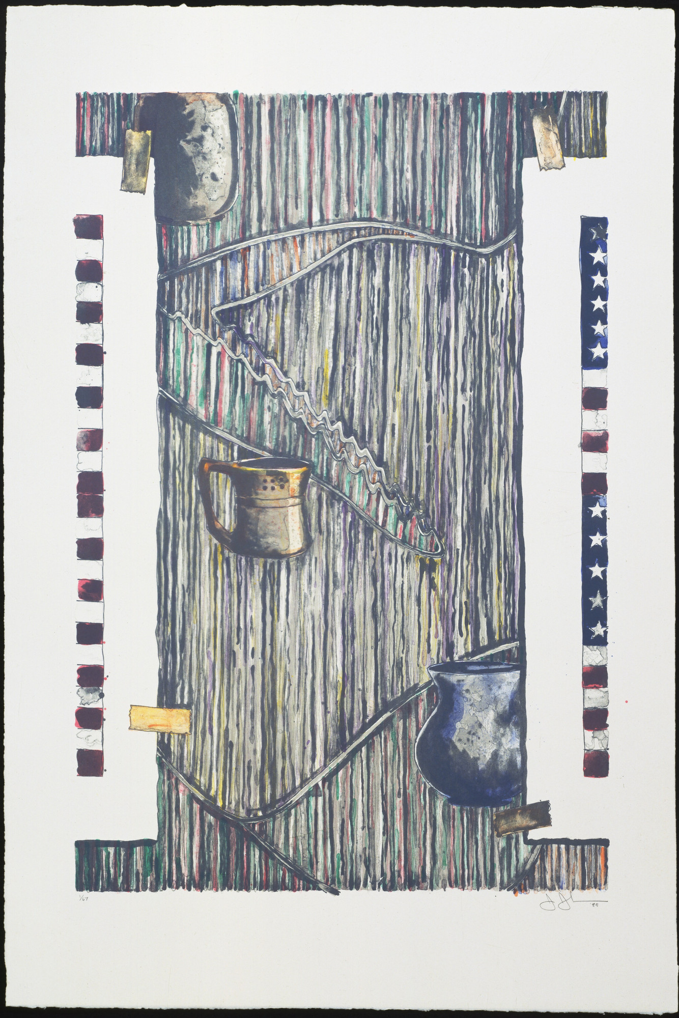 Jasper Johns. Ventriloquist. 1985