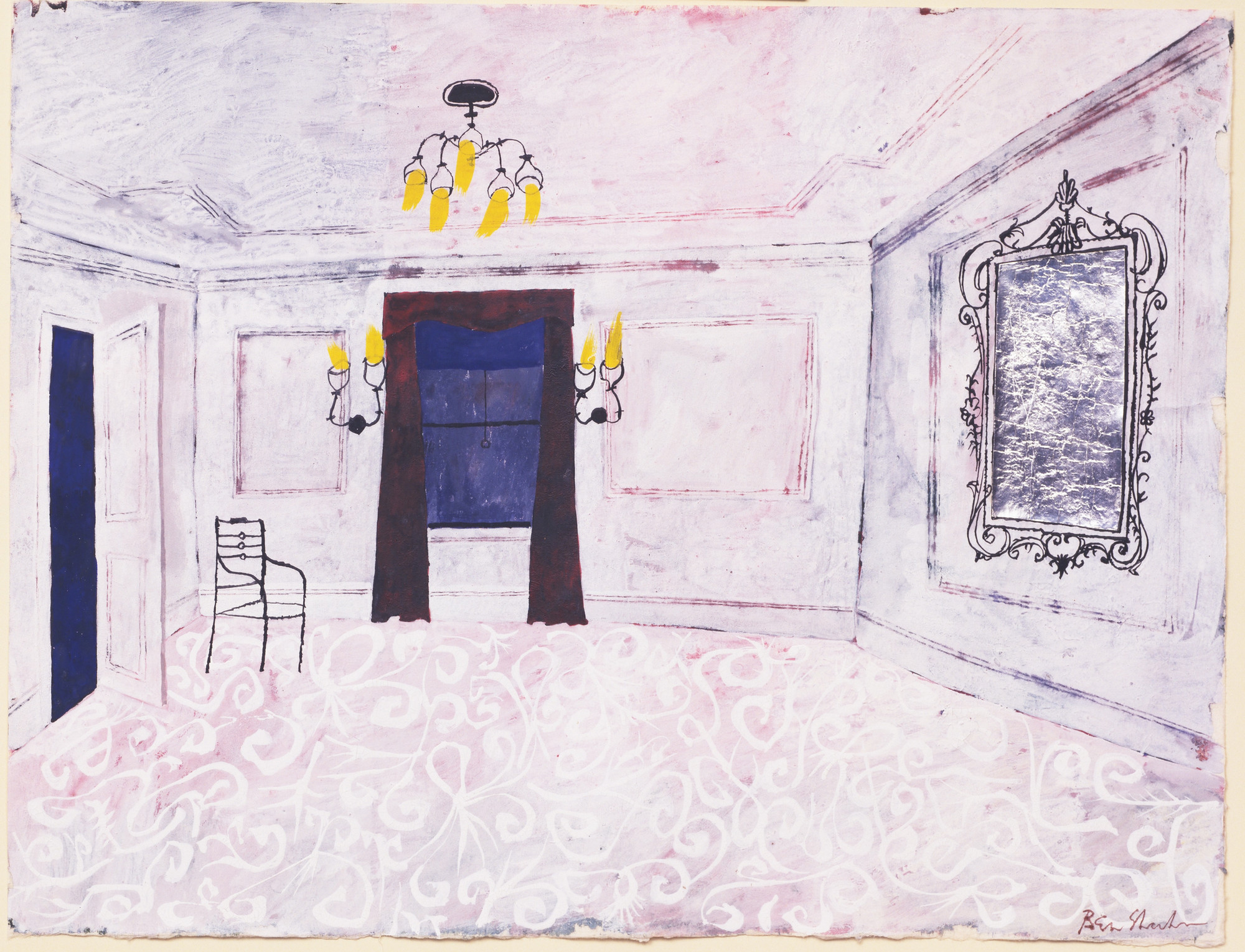 Ben Shahn. The Room. Set design for the play him. (1961)