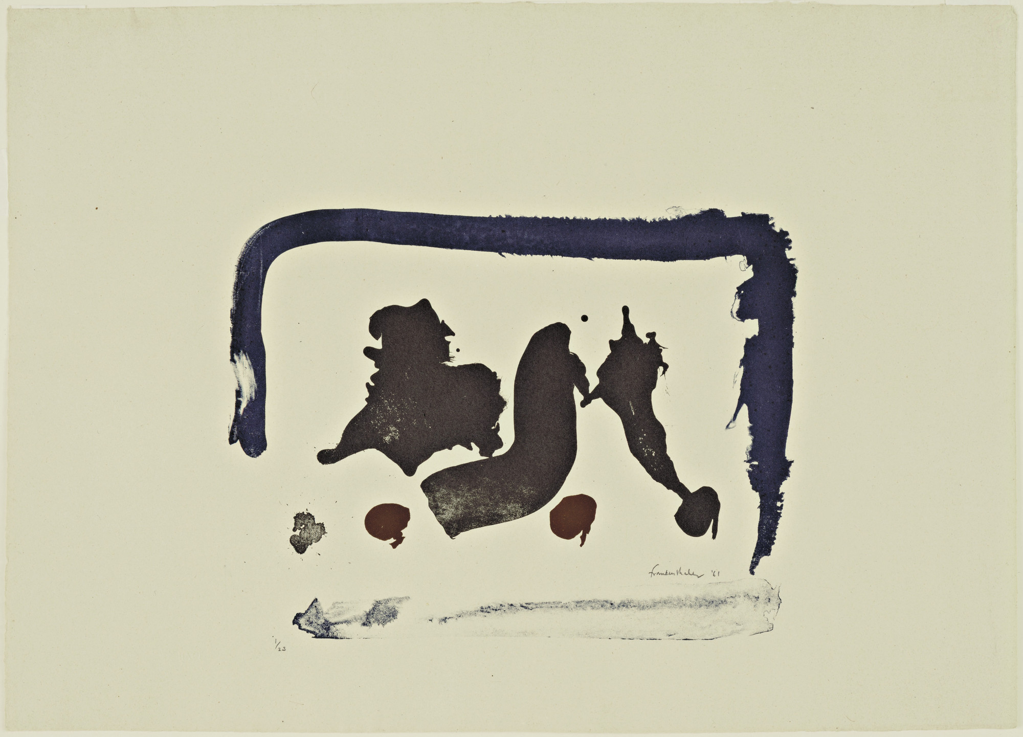 Helen Frankenthaler. Brown Moons. 1961