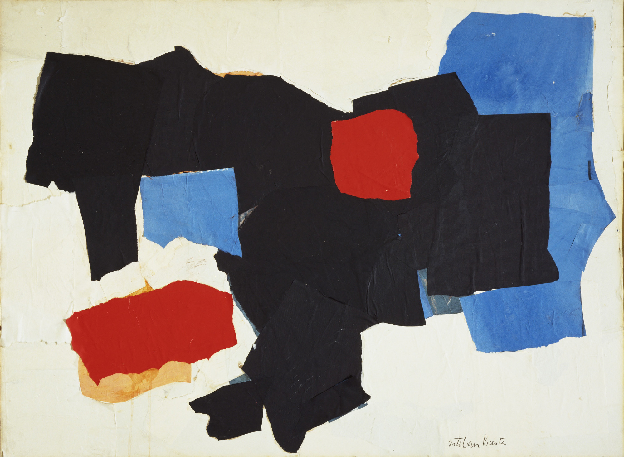 Esteban Vicente. Blue, Red, Black and White. 1961