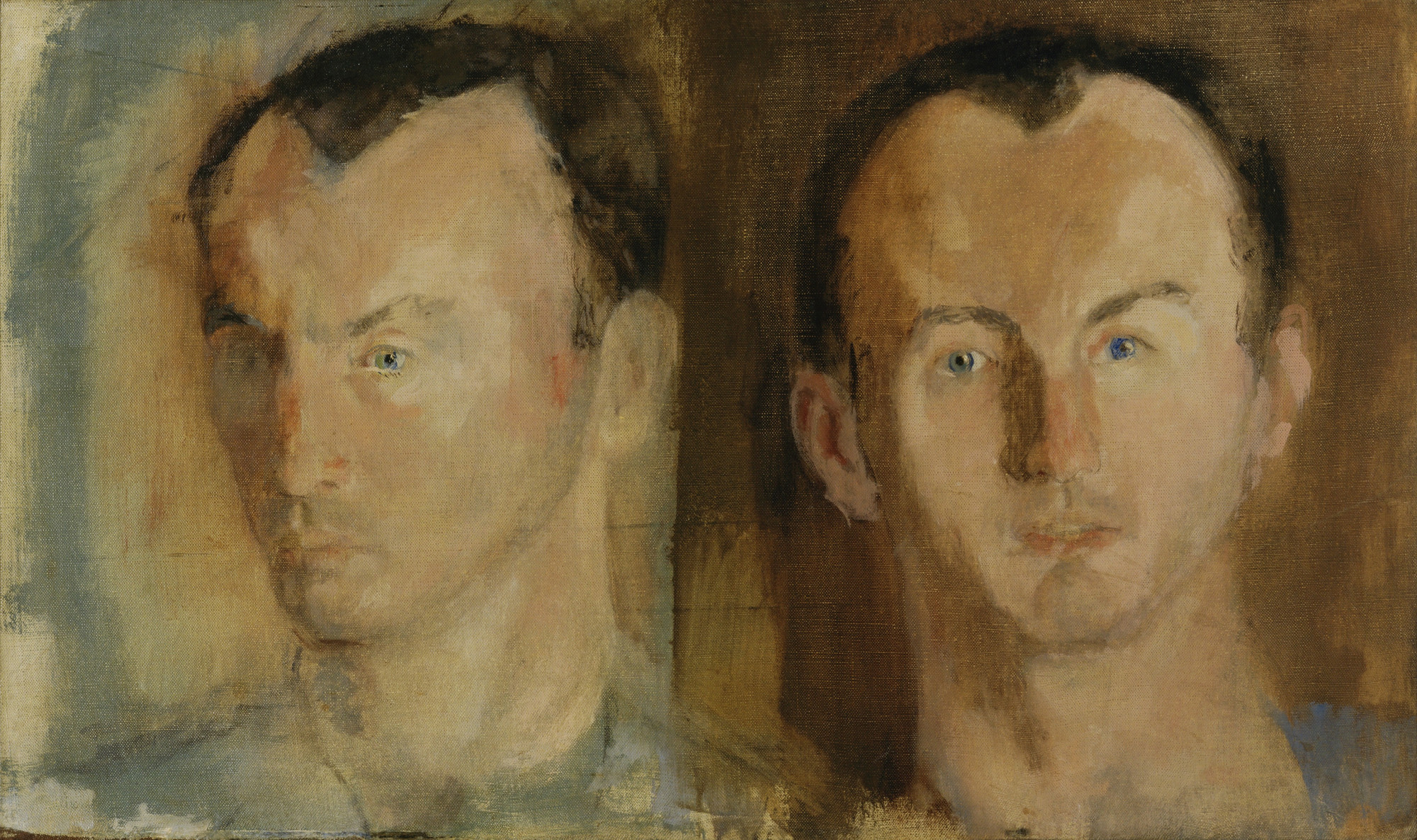 Larry Rivers. Double Portrait of Frank O'Hara. 1955