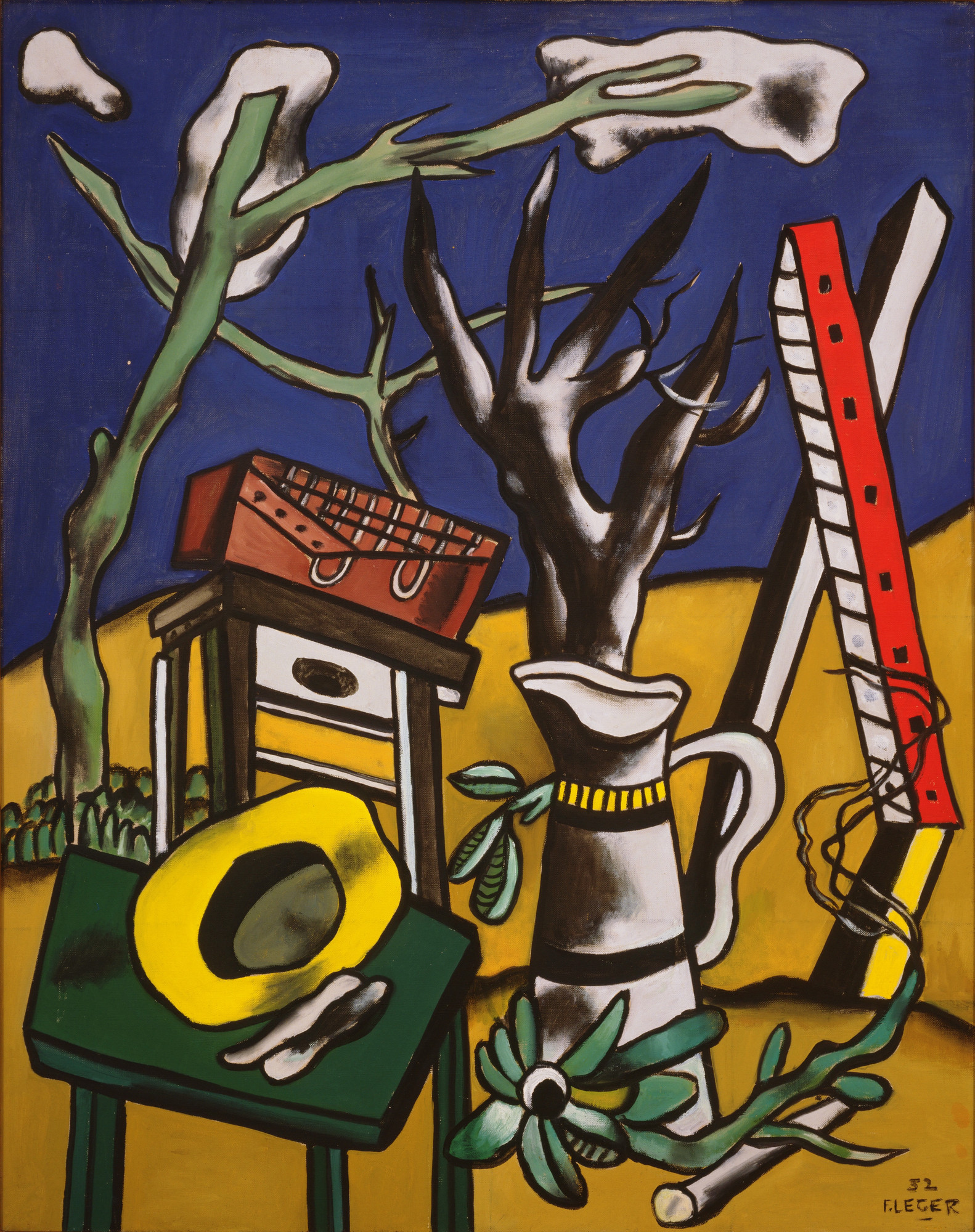 Fernand Léger. Landscape with Yellow Hat. 1952