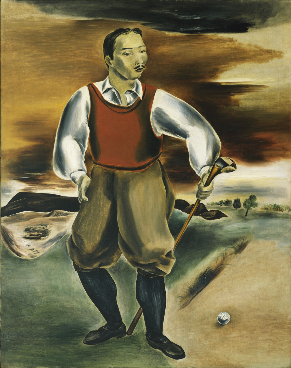 Yasuo Kuniyoshi. Self-Portrait as a Golf Player. 1927