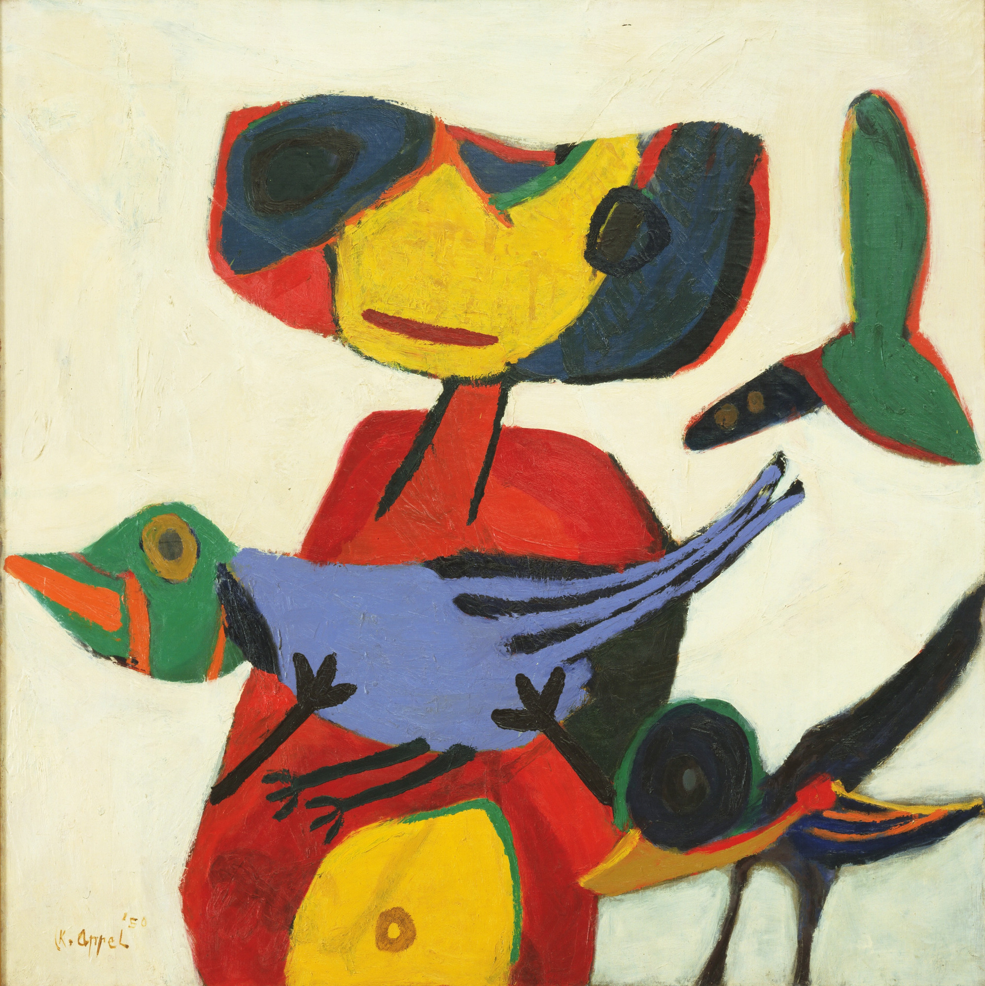 Karel Appel. Child with Birds. 1950