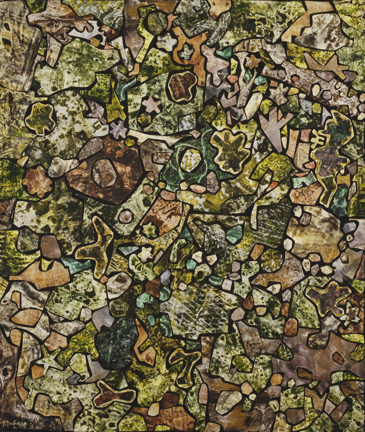 Jean Dubuffet. Soil Ornamented with Vegetation, Dead Leaves, Pebbles, Diverse Debris. June 1956