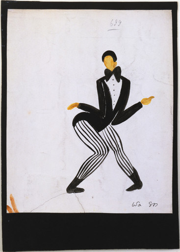 Sonia Delaunay-Terk. Zaoum. Costume design for the play Le Coeur à Gaz. 1923