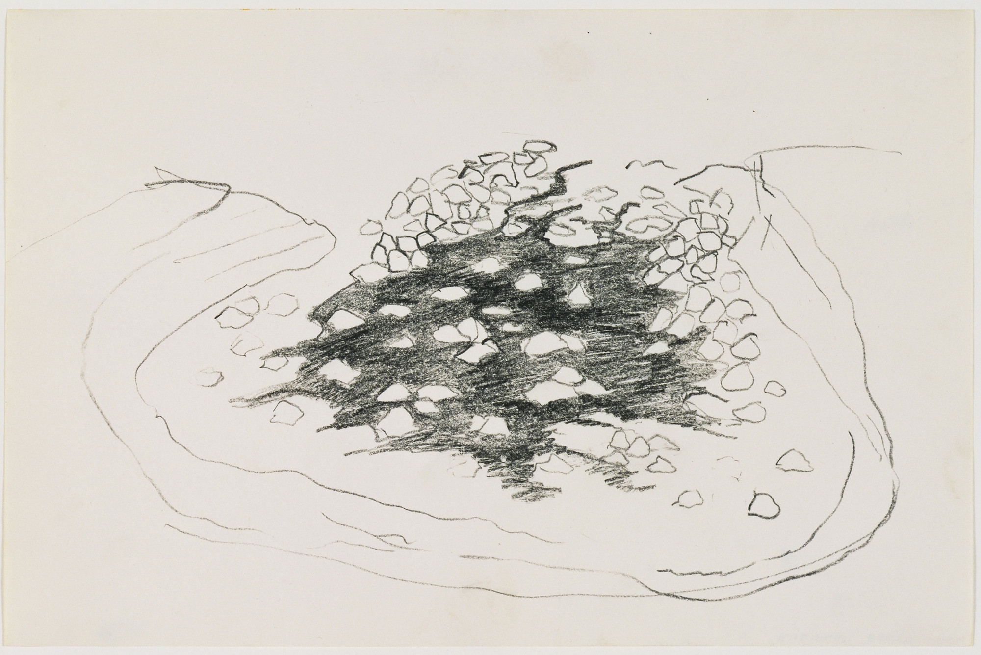 Robert Smithson. Sketch for Quarry Project: Texas Overflow. 1970